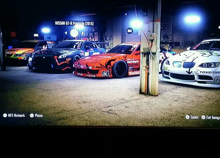 My nfs garage with nfs pro street style cars
