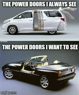toyota alphard doors versus bmw z1 doors in the u s. Black Bedroom Furniture Sets. Home Design Ideas