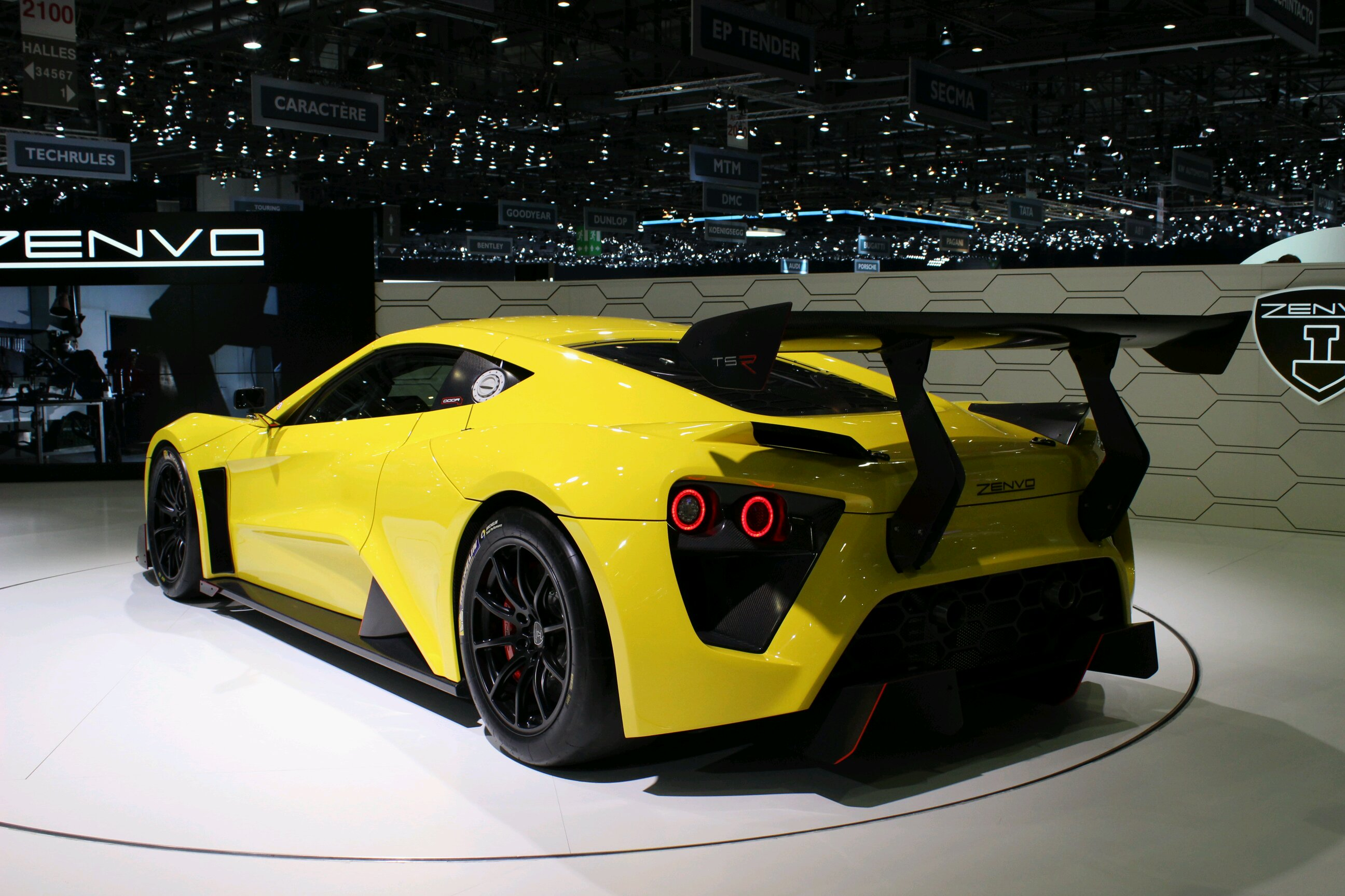Rear View On The Zenvo And Its Exaggerated Spoiler And Aero