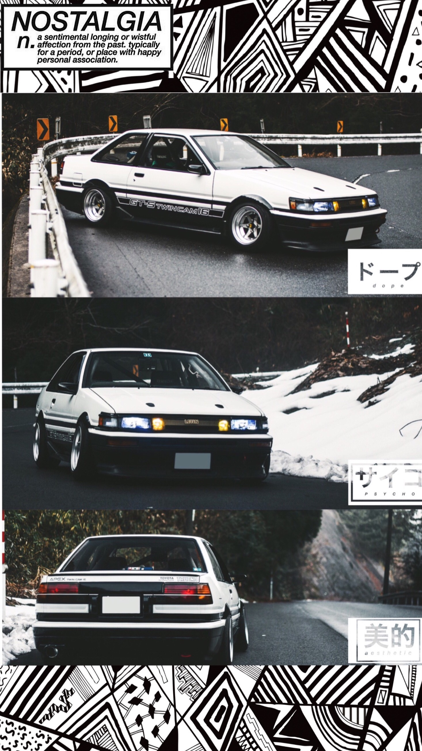 Hey guys. Here's my AE86 Levin wallpaper for iPhone I made ...