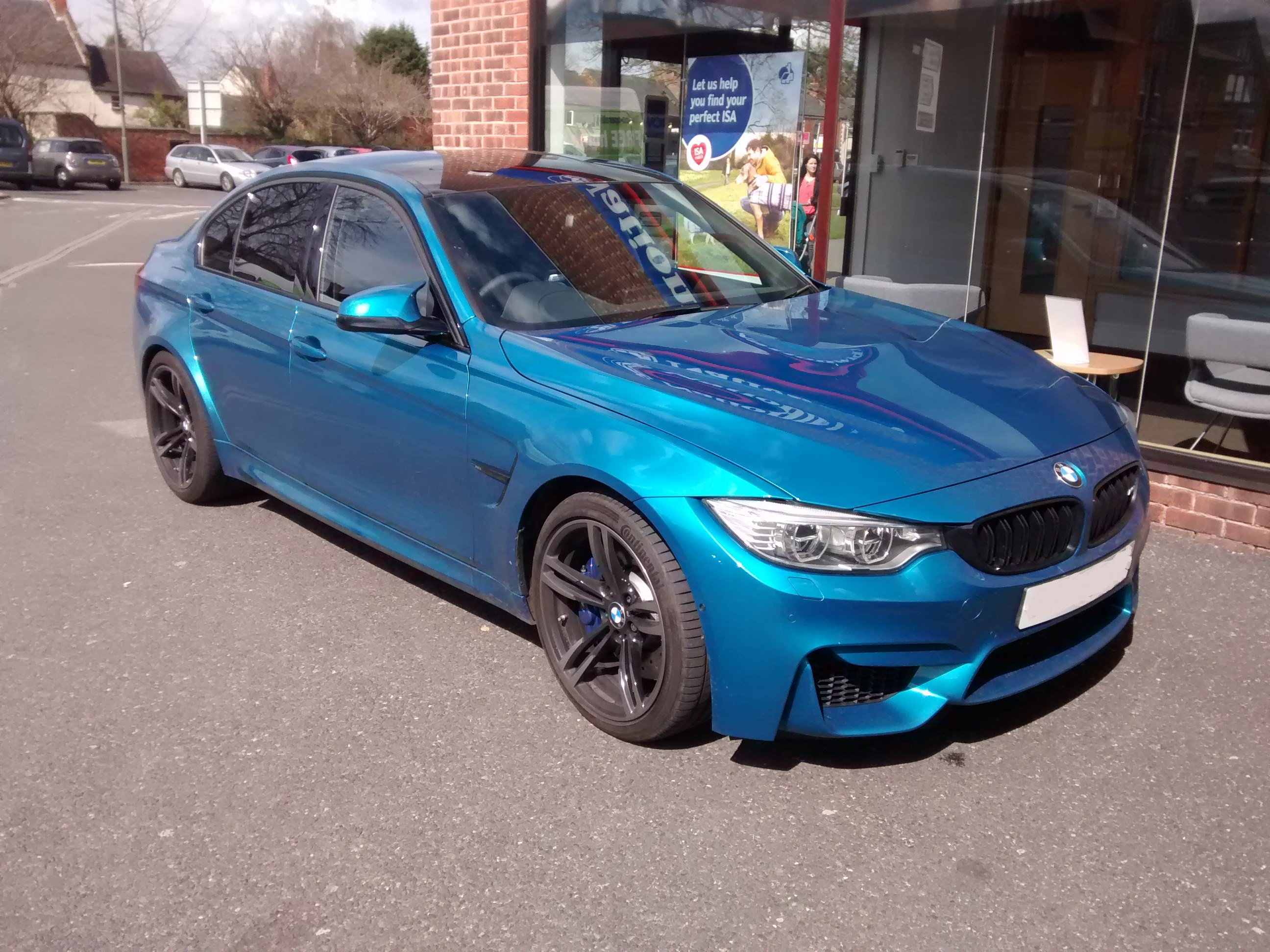 spotted this f80 bmw m3 in long beach blue. Black Bedroom Furniture Sets. Home Design Ideas