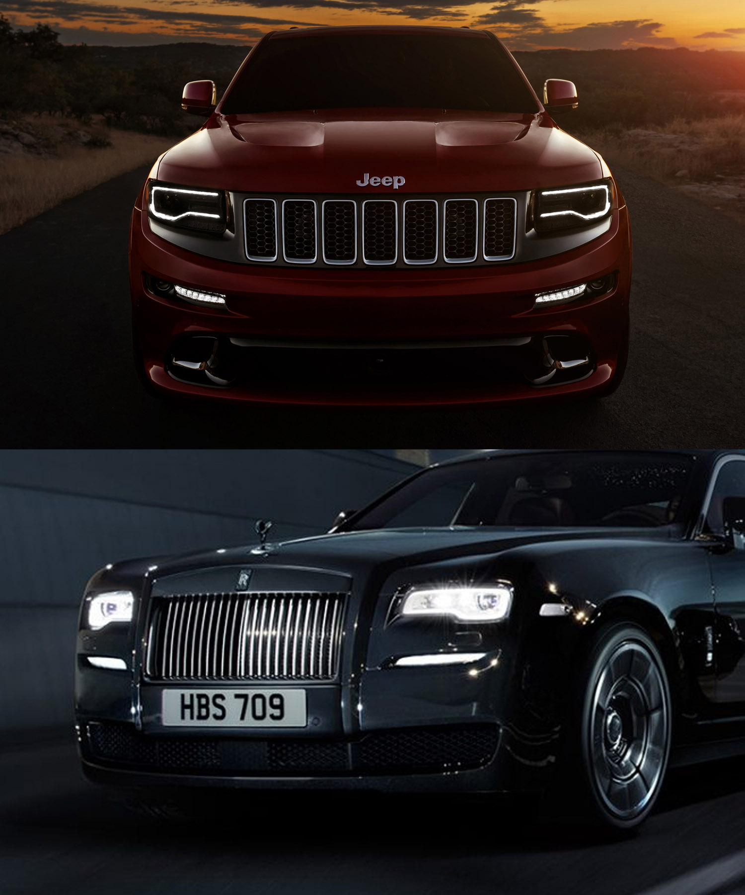 Just Realised How Similar The Lights Of The Grand Cherokee Srt Are To The Rolls Royce Ghost Wraith