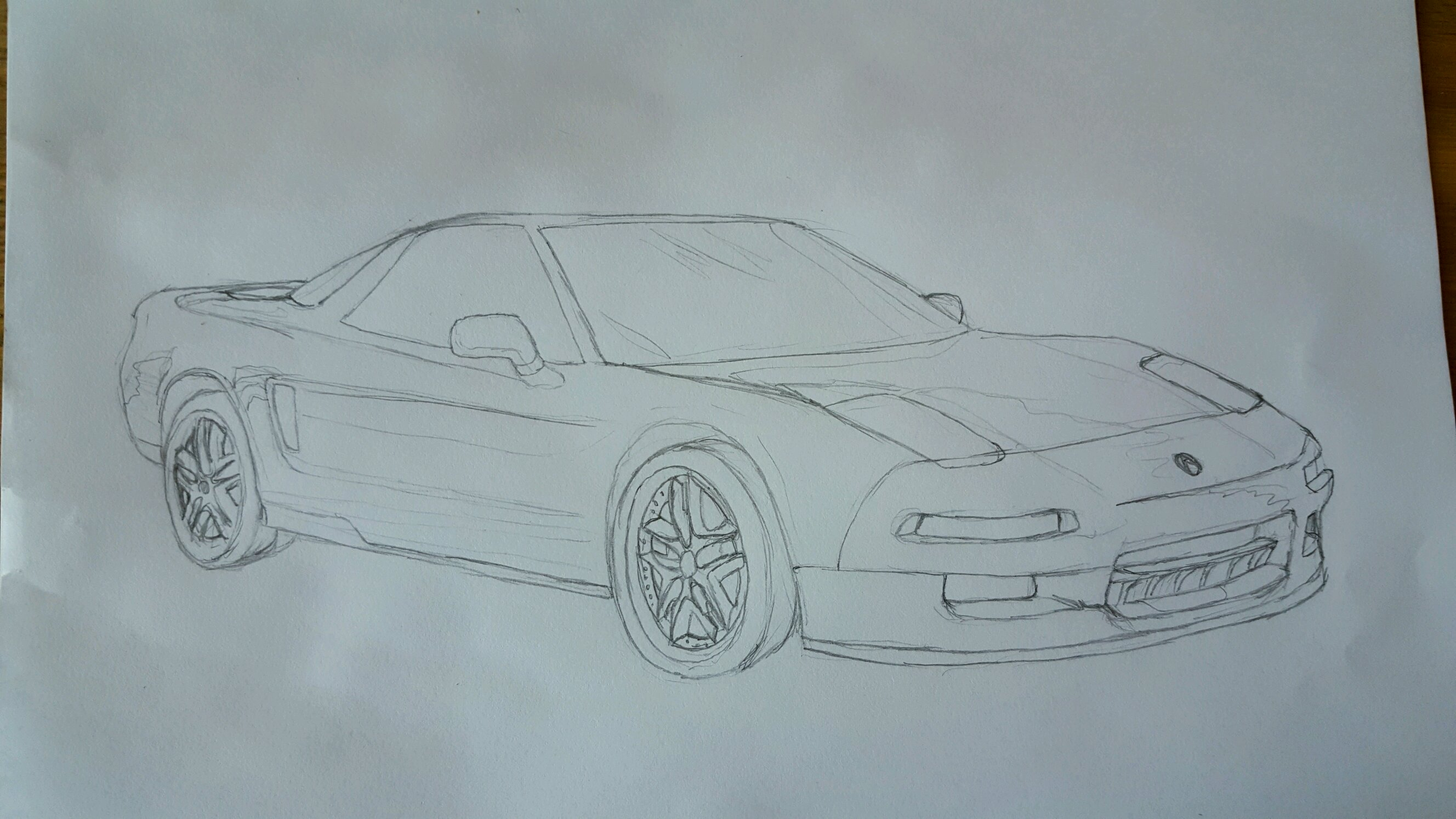 Heres A Quick Sketch Of The 1995 Acura Nsx Quick Means A Little Sloppy Lol So Far I Also Have The Base Shading Down Its Harder Then I Expected Spent A Lot