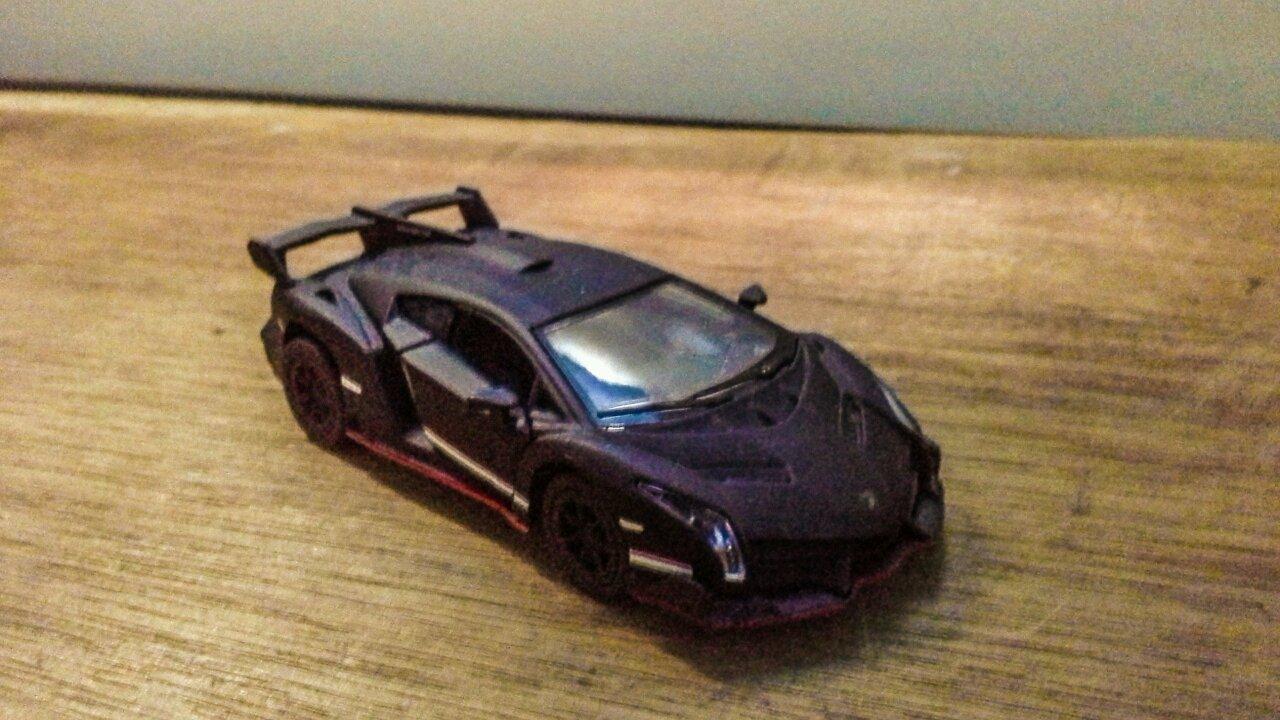 My Kinsmart Matte Black Lamborghini Veneno