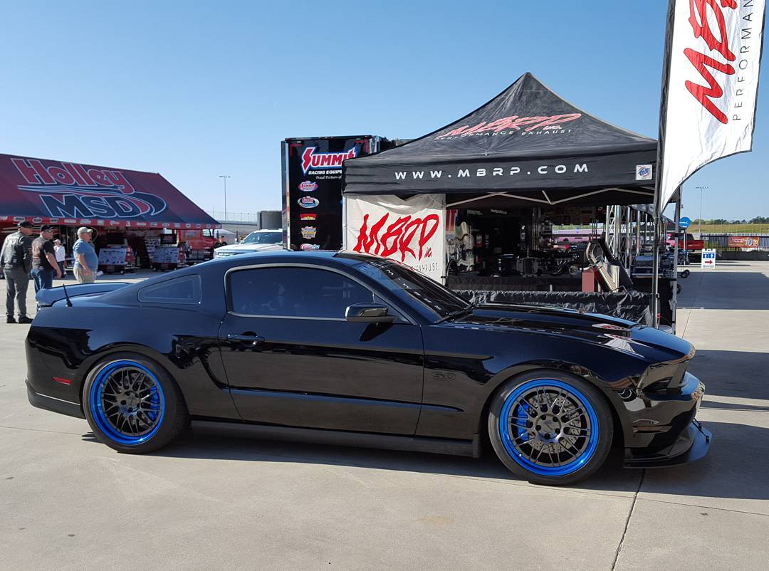 Rick haynes bagged mbrp exhaust s197 mustang gt on forgeline gx3