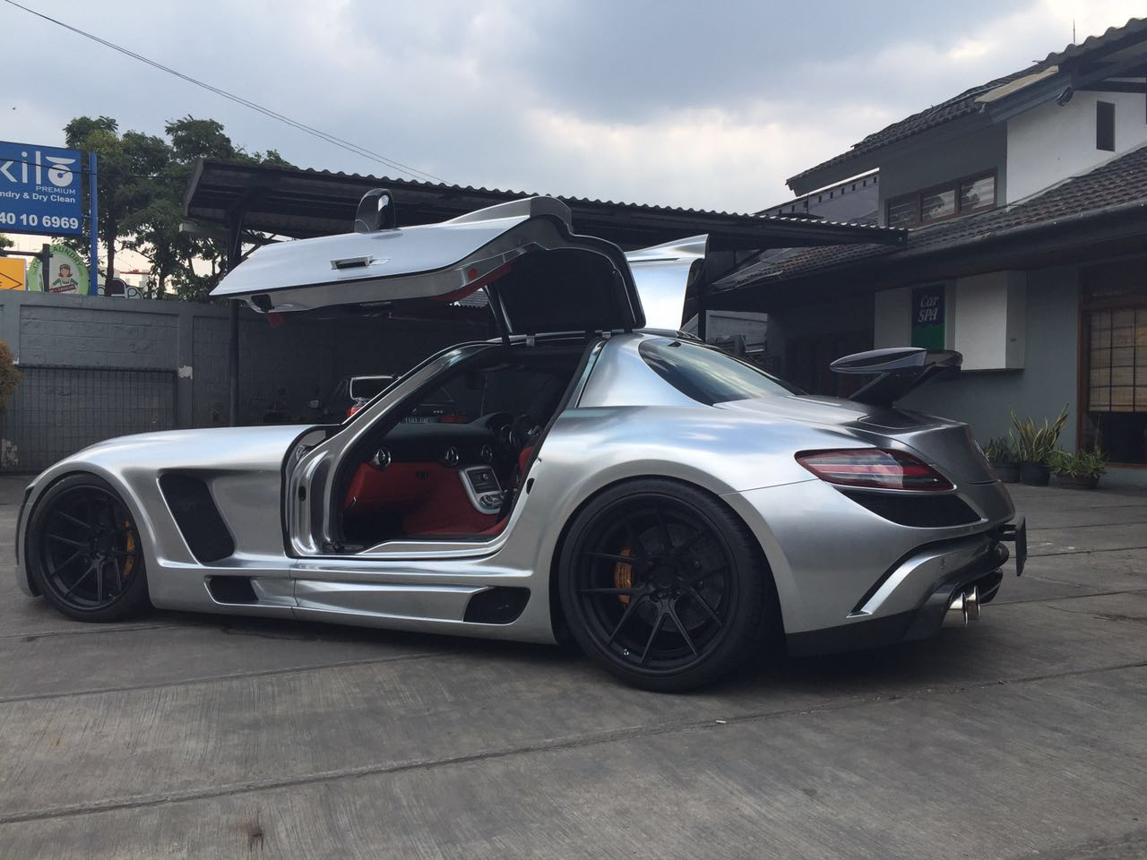 My Cousin S Sls Drag Car With Real Chrome Paint From Indonesia