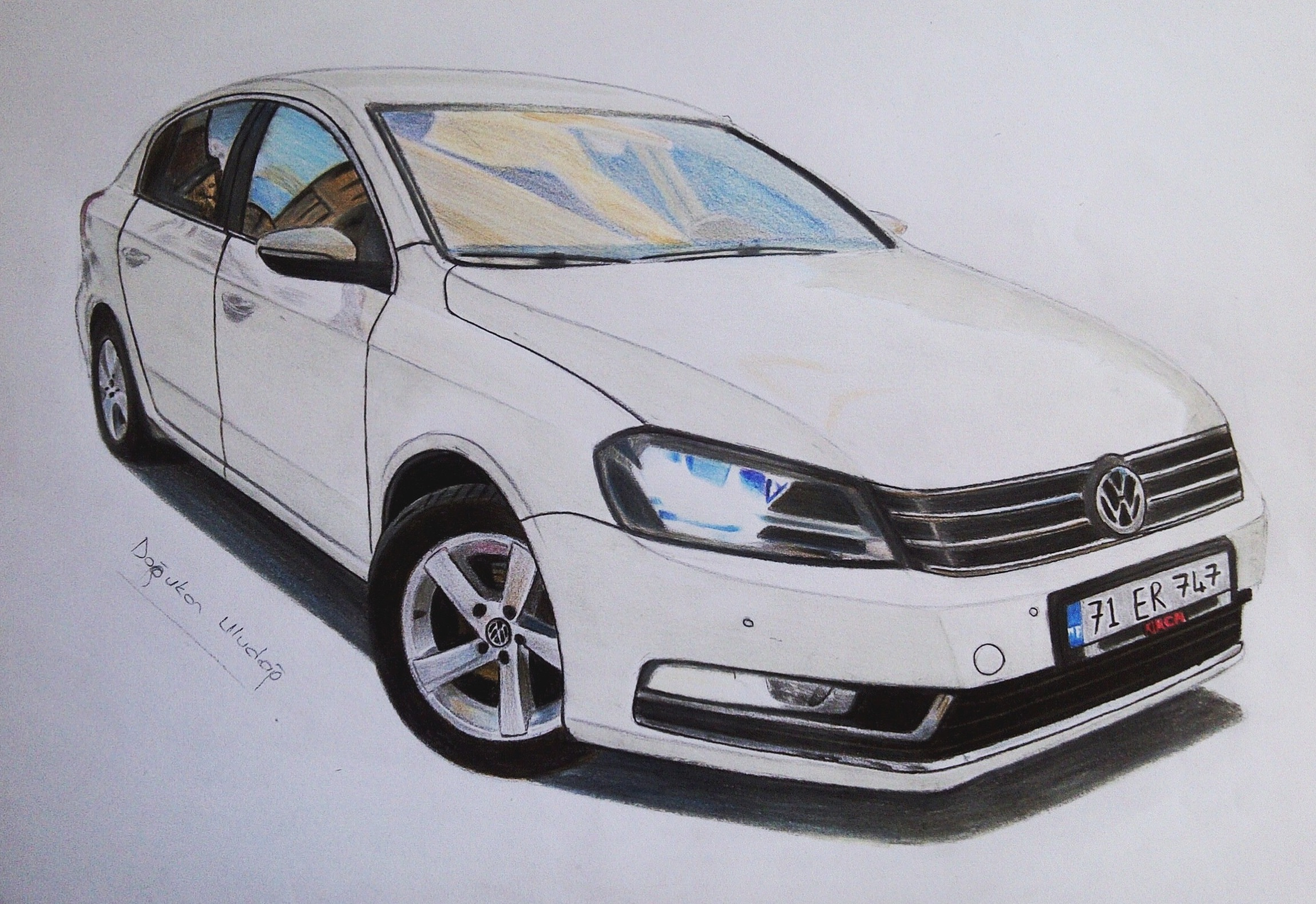 my first order drawing quotvw jettaquot drawing from 2013