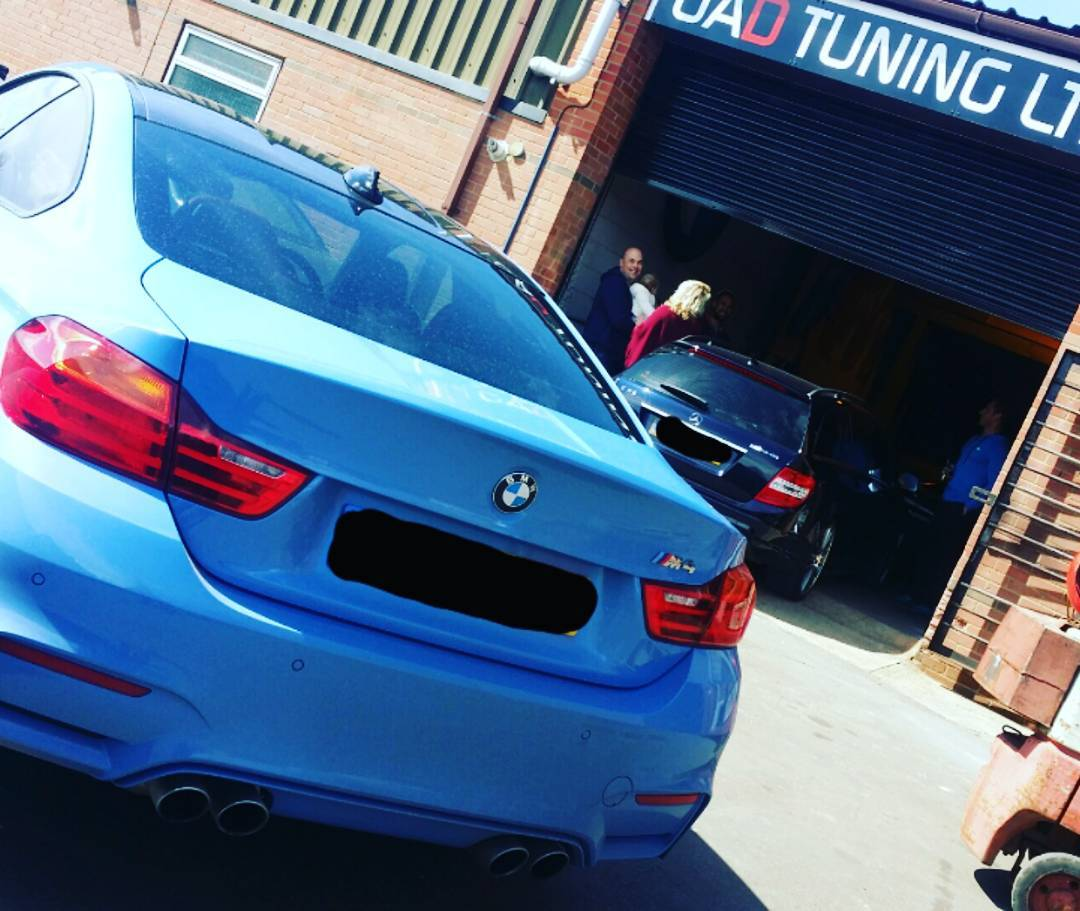 BMW M4 in for Stage 2 power tuning after having BMC air filter