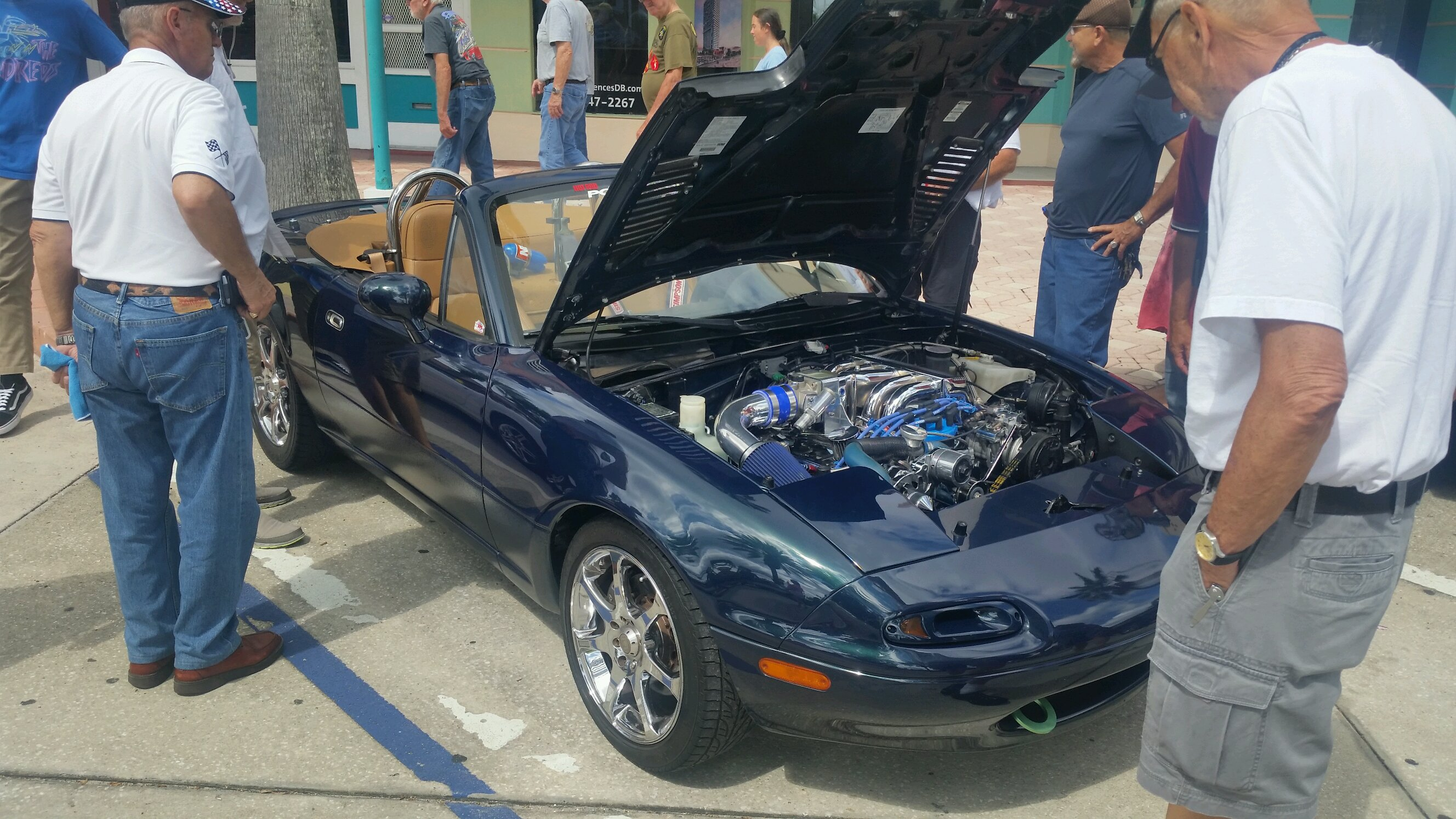 Miata with a coyote v8 swap, this thing was sick, couldn't