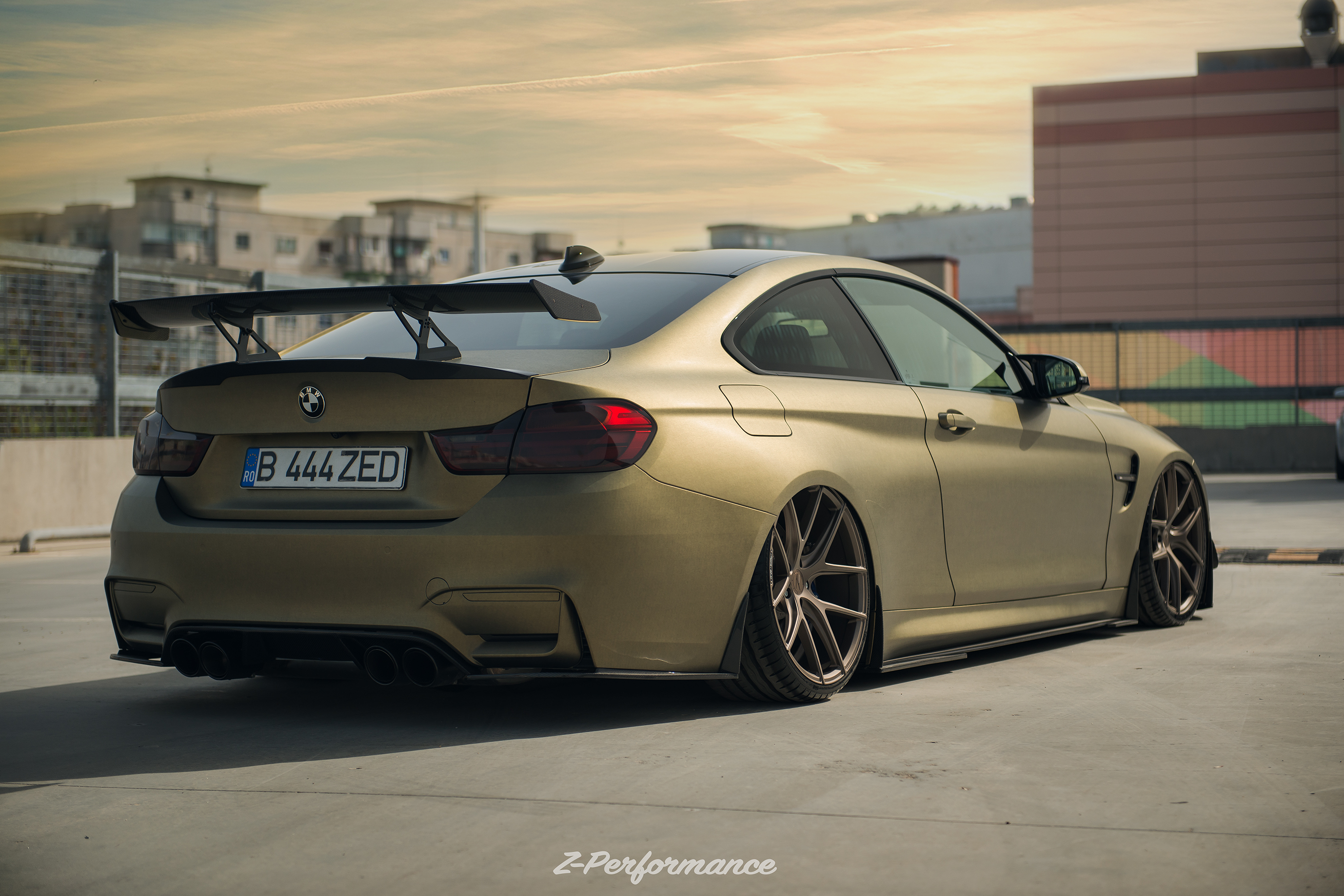 Z Performance M4 On Zp Nine Deep Concave In Matte Bronze