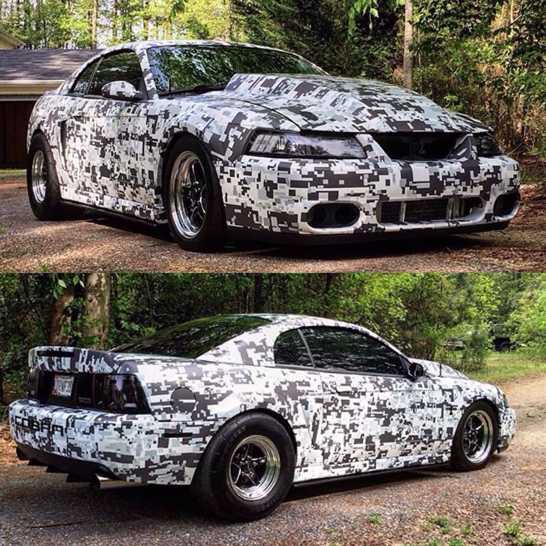 Digital Camo Wrap On A Svt Cobra