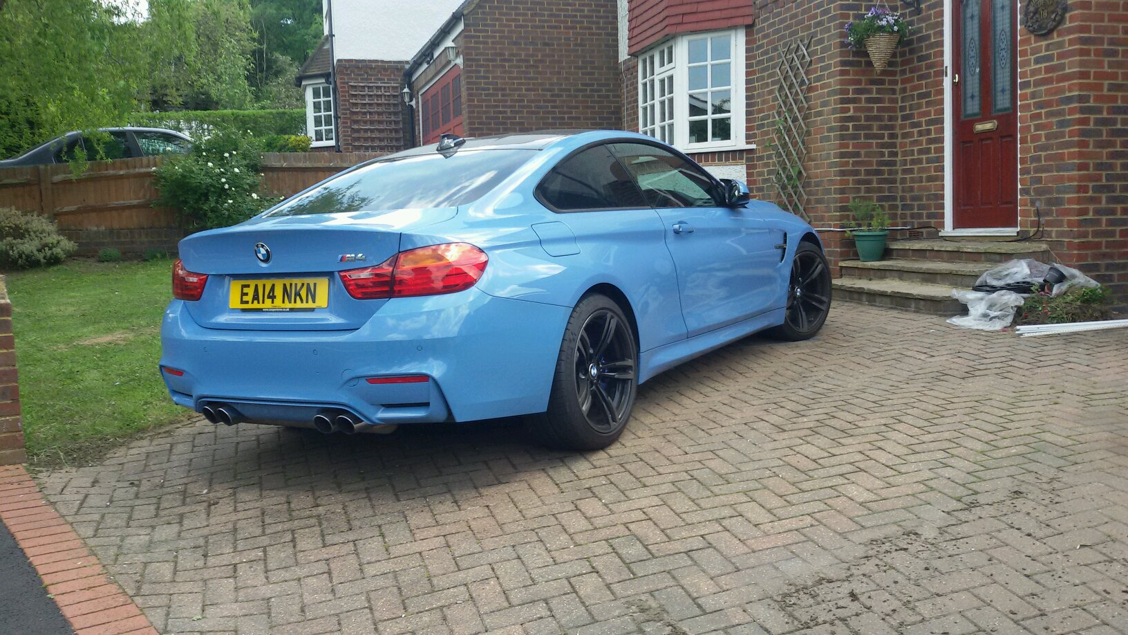 Bmw M4 In Baby Blue