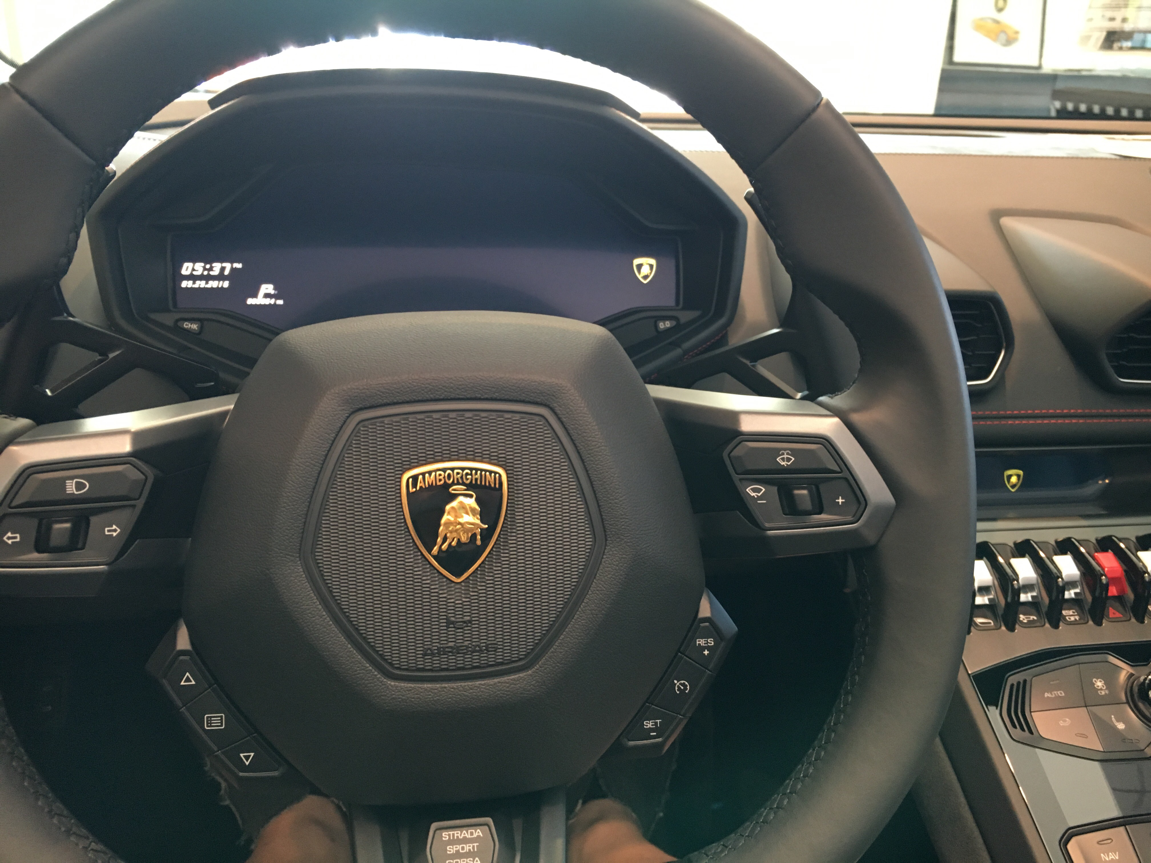 A View From Inside Of The New Lamborghini Hurucan Spyder One Of The