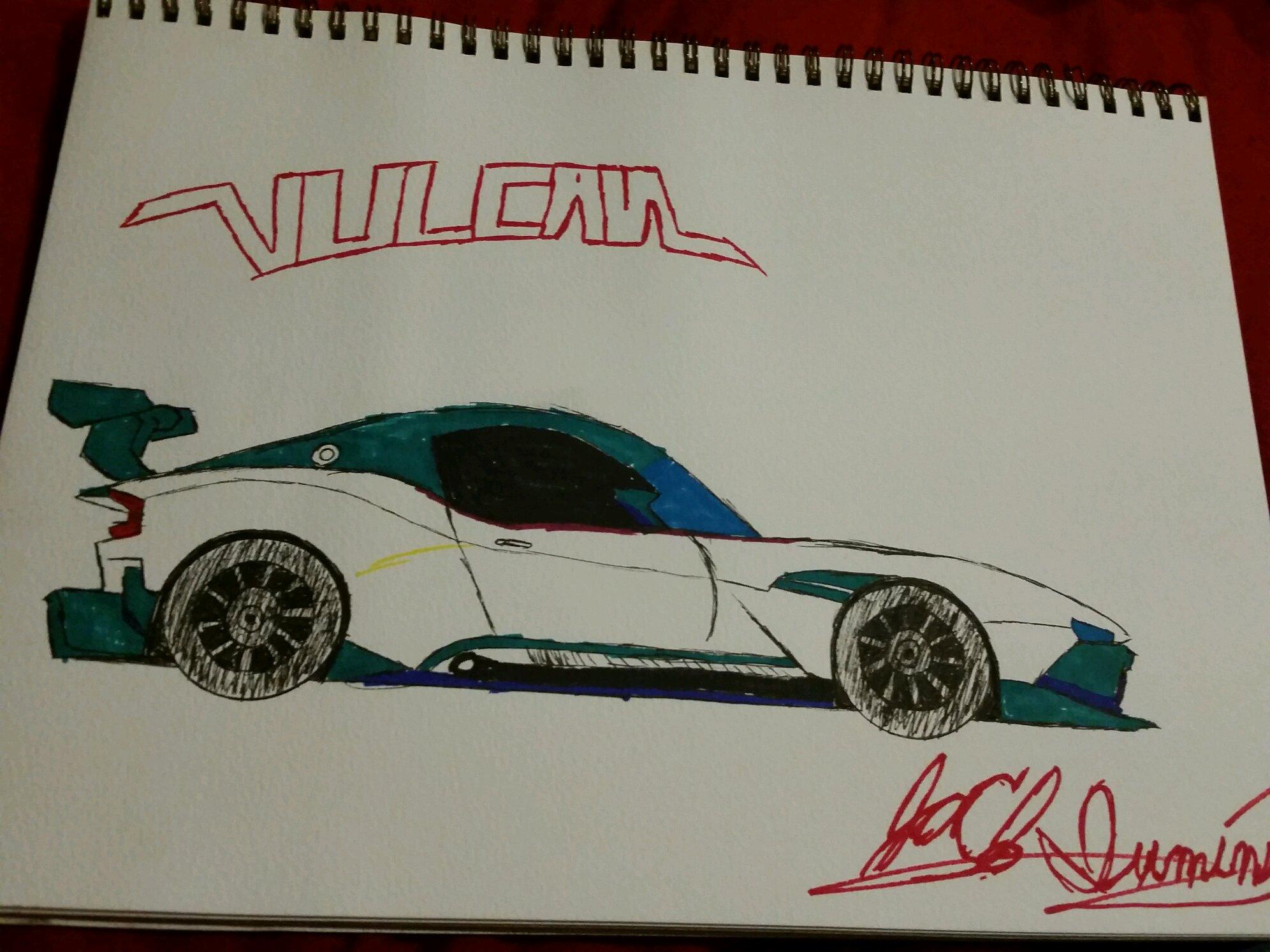 My First Car Drawing Aston Martin Vulcan