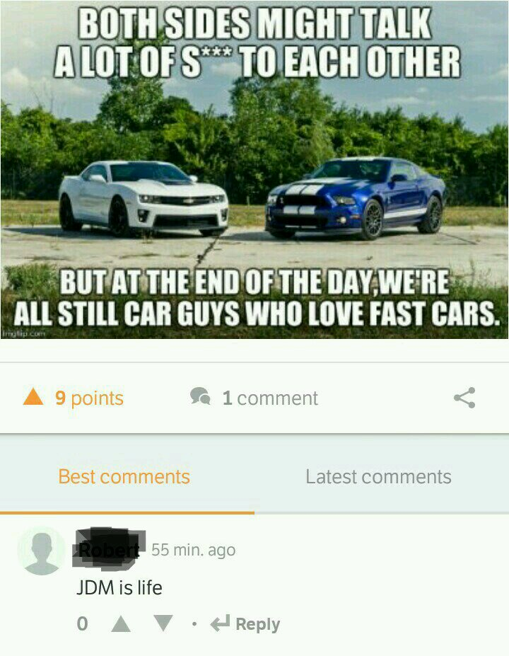 That Moment When People Are Talking About Mustang Vs Camaro