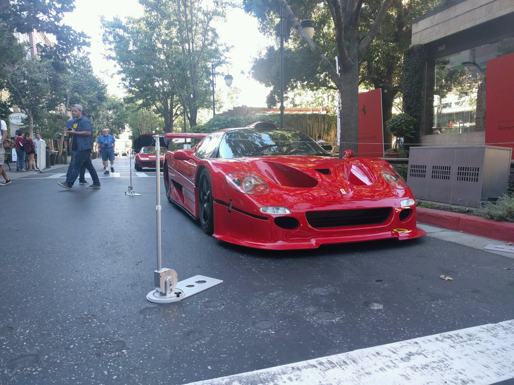 Cars and coffee at Santana Row in San Jose CA