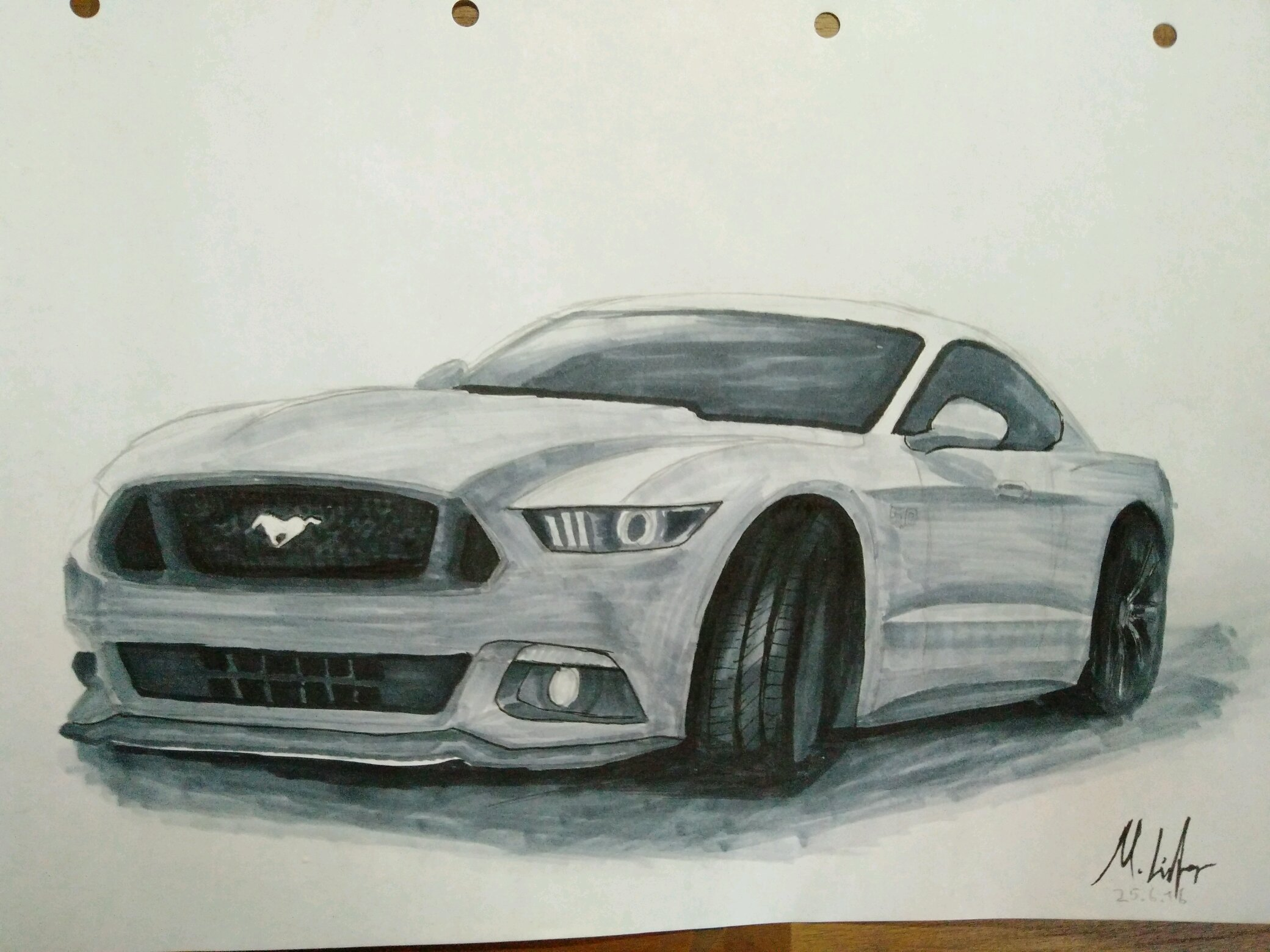 Didn\'t draw cars for a while, so i decided draw the car of many ...