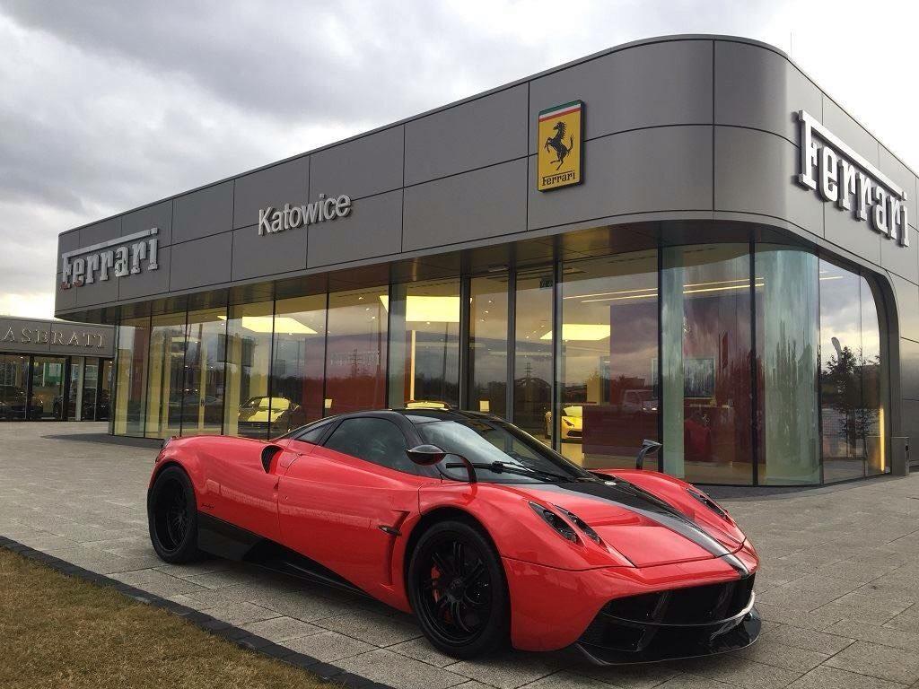 This Amazing Pagani Huayra Spotted At Ferrari Dealership