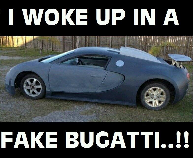I Woke Up In A New Bugatti Meme