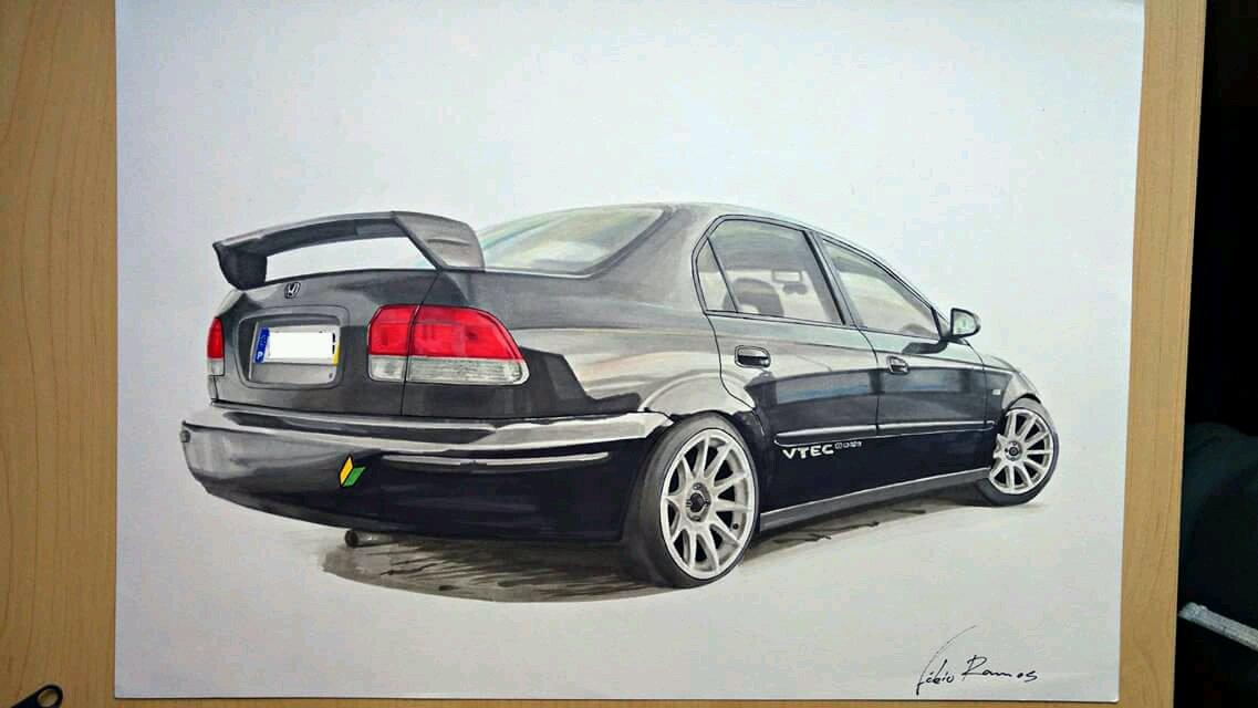 My Drawing Of The Honda Ek4