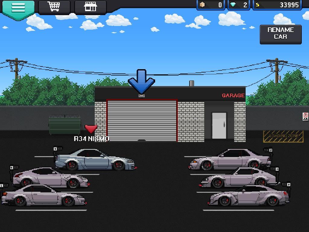Nismo car garage pixel car racer for Garage skoda paray vieille poste