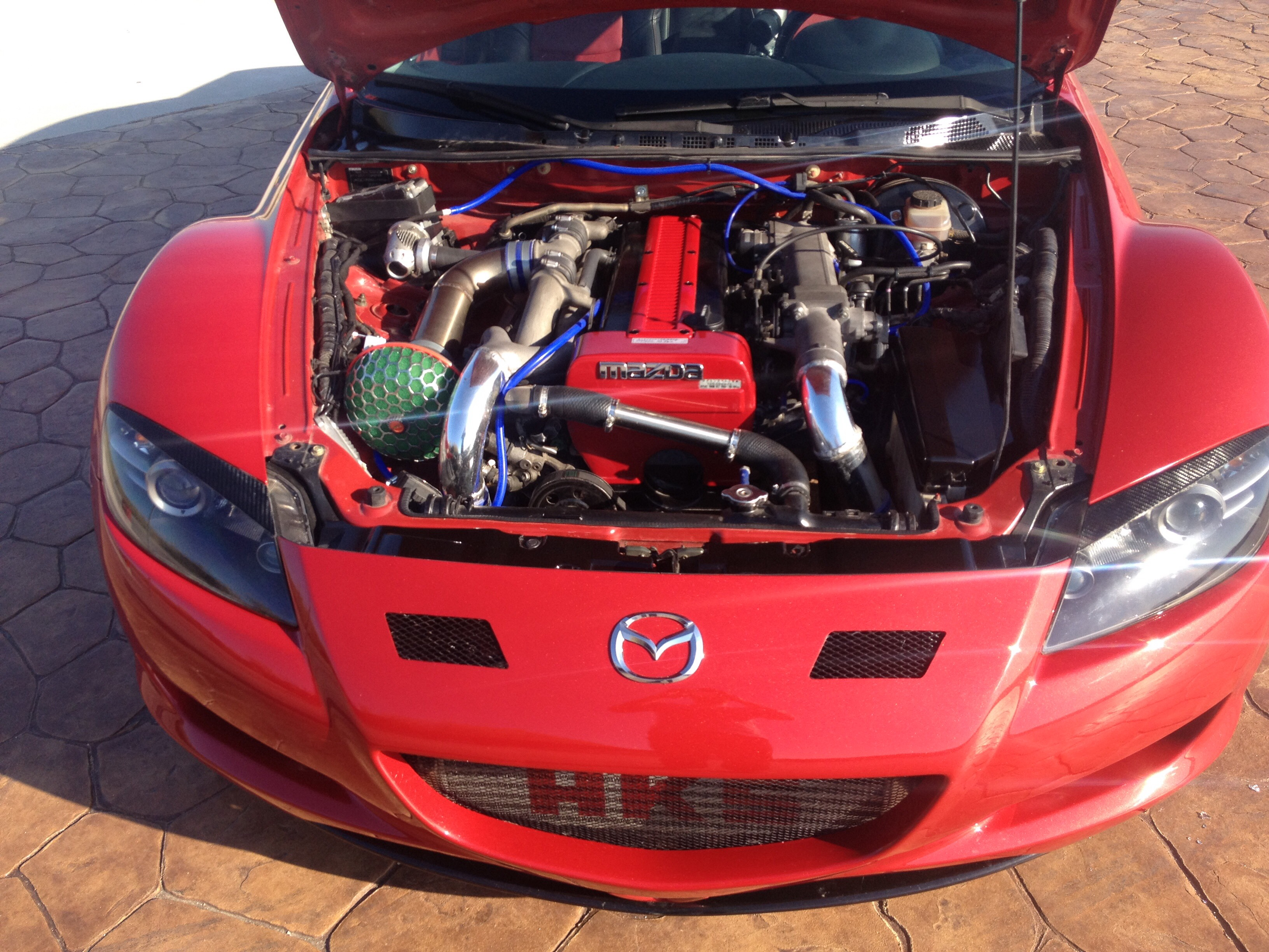 my rx8 with toyota supra engine the first that má-fé in greece