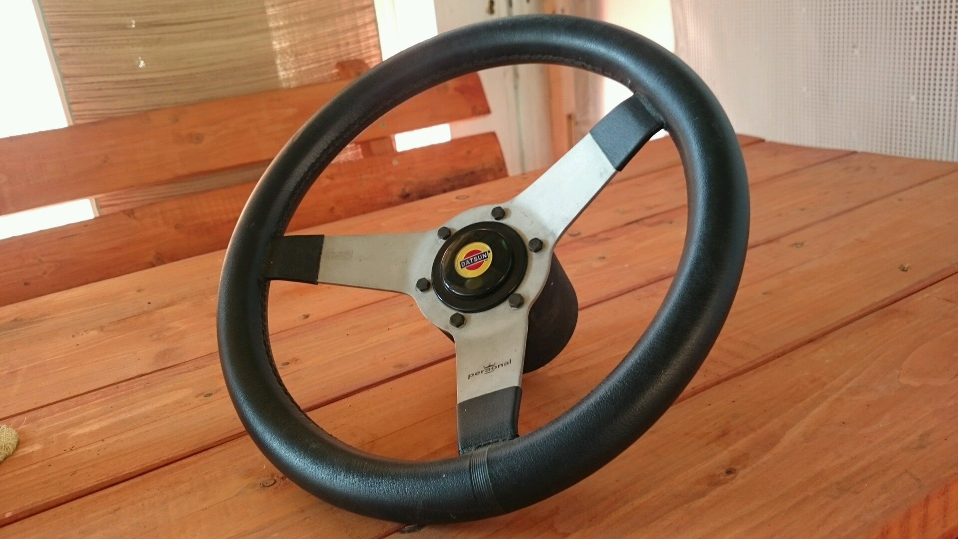 Original Personal Datsun Steering Wheel For My S12 What Kind Of Steering Wheel You Use