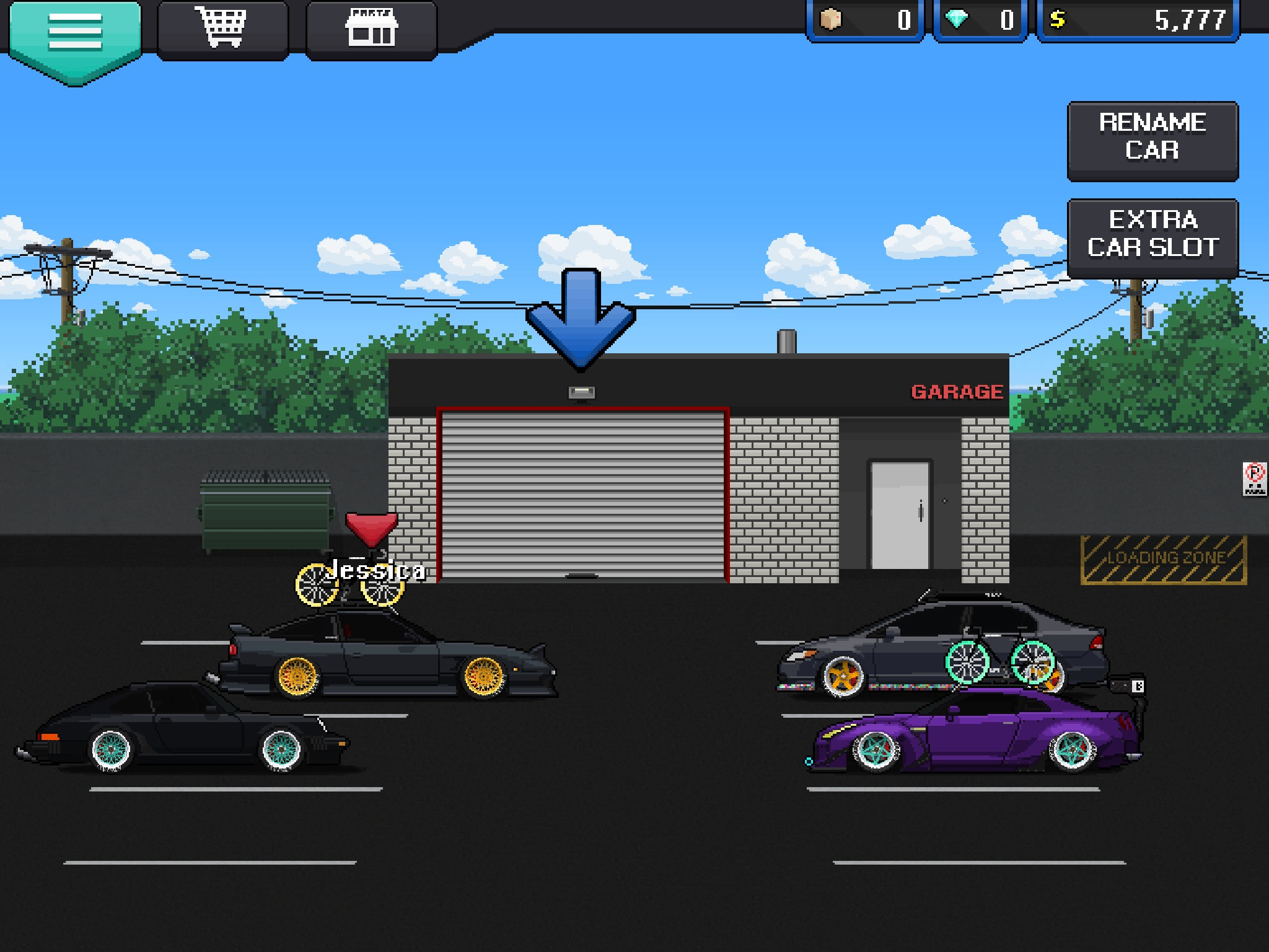 My Pixel Car Racer Garage