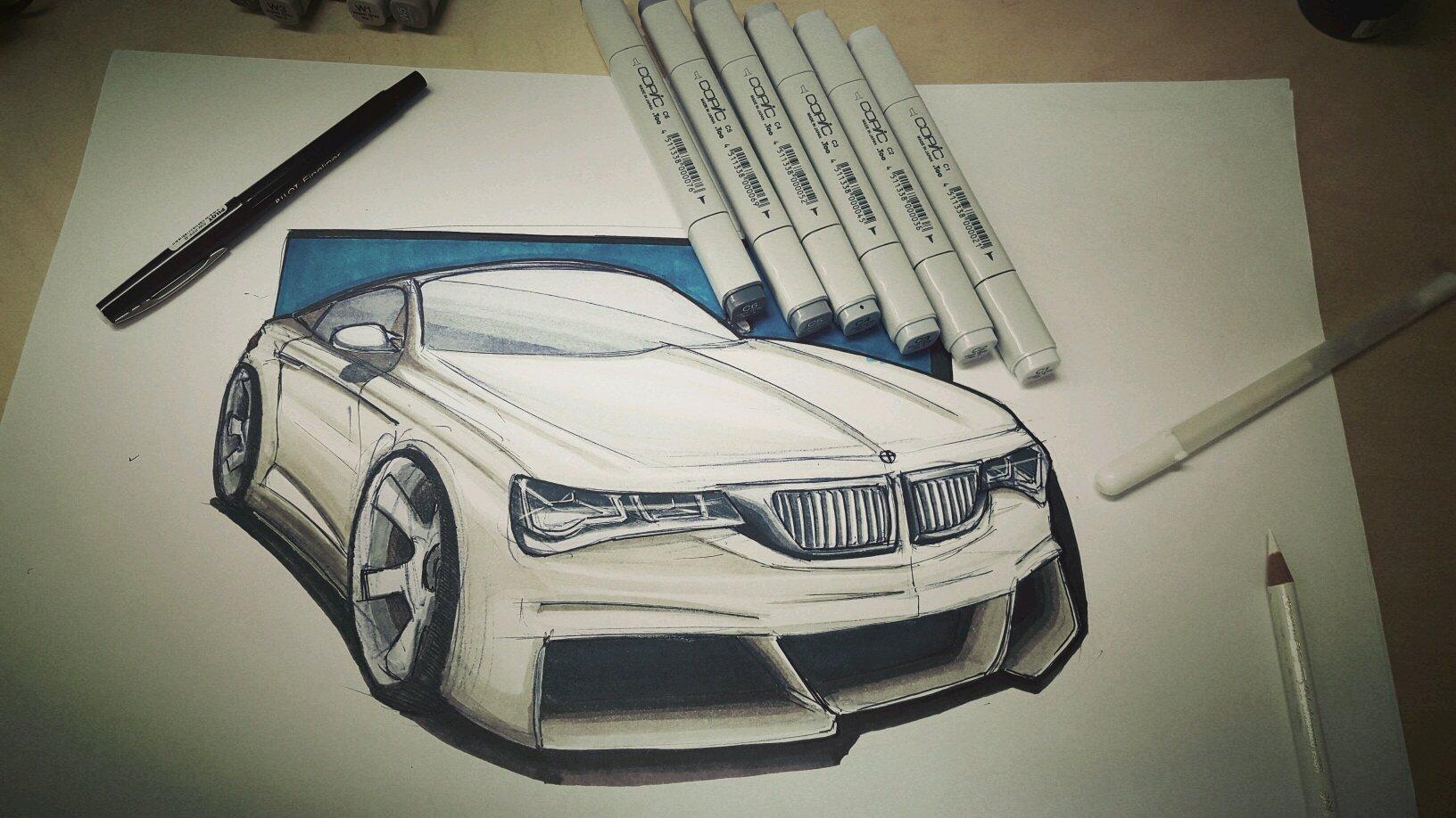 BMW hand rendering