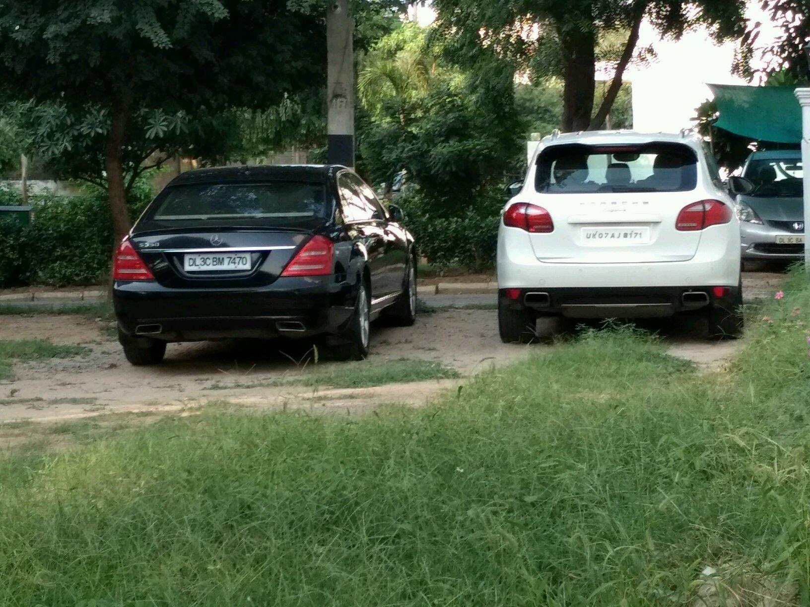 Porsche cayenne S and a Mercedes S350