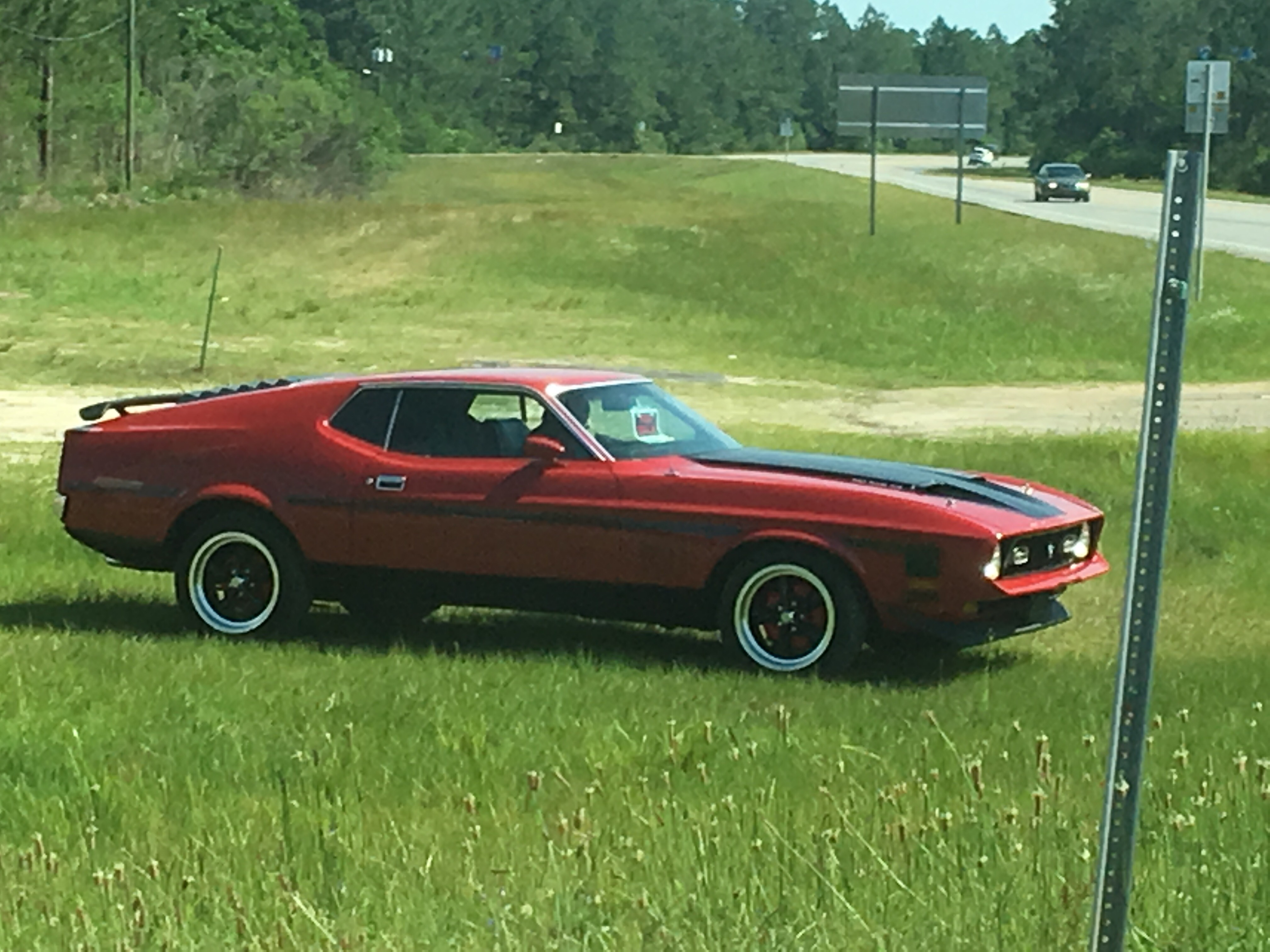 79 mustang mach 1 fastback spotted outside of the air force base