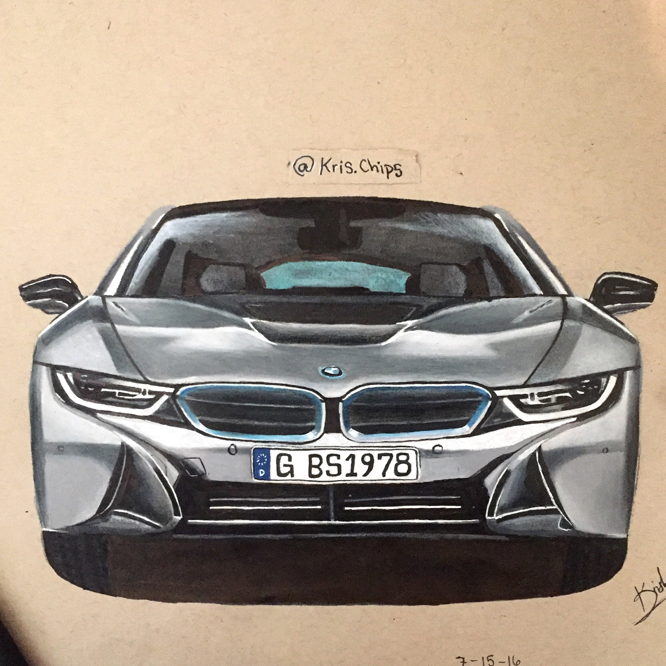 Bmw I8 Drawing