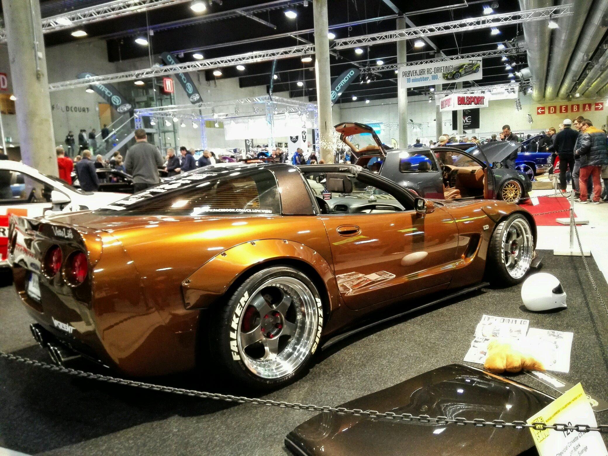 Stanced Corvette at Oslo Motorshow today