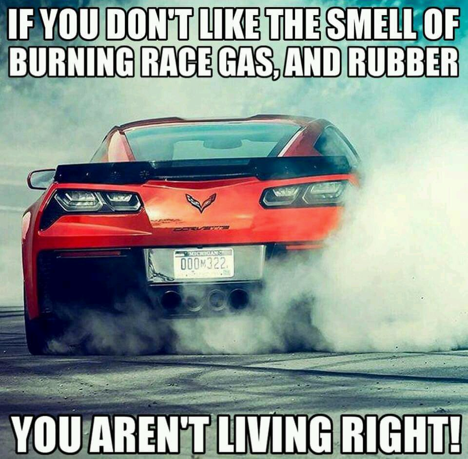 I don't actually like the smell of burning rubber 😕