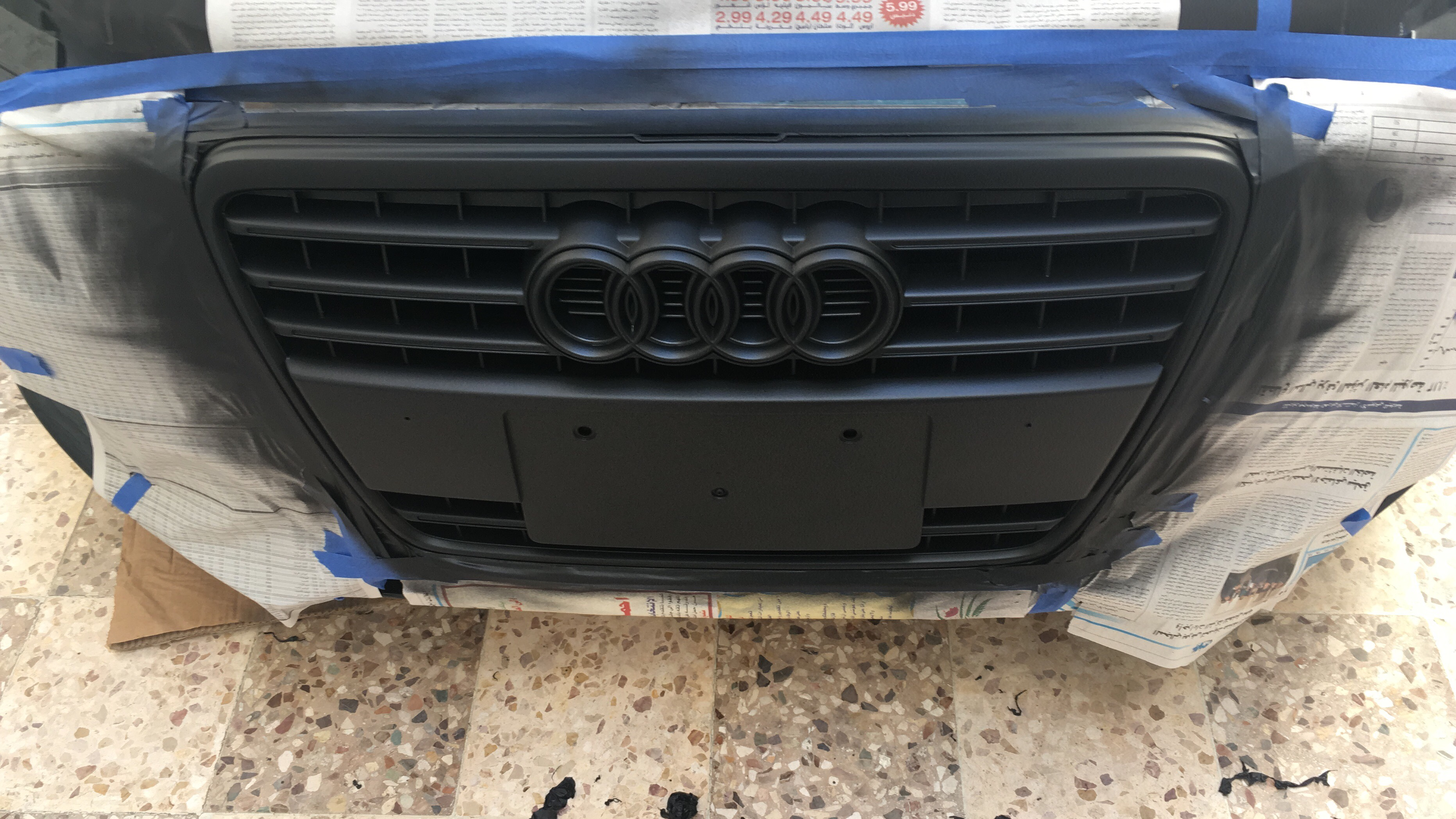 Plasti dipped my A4 B8   2nd coat nice and even  I'll post