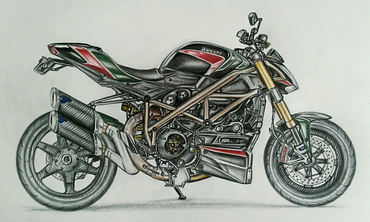 Ducati Streetfighter 1098 S Drawing It Took About 10 Hrs To Do This
