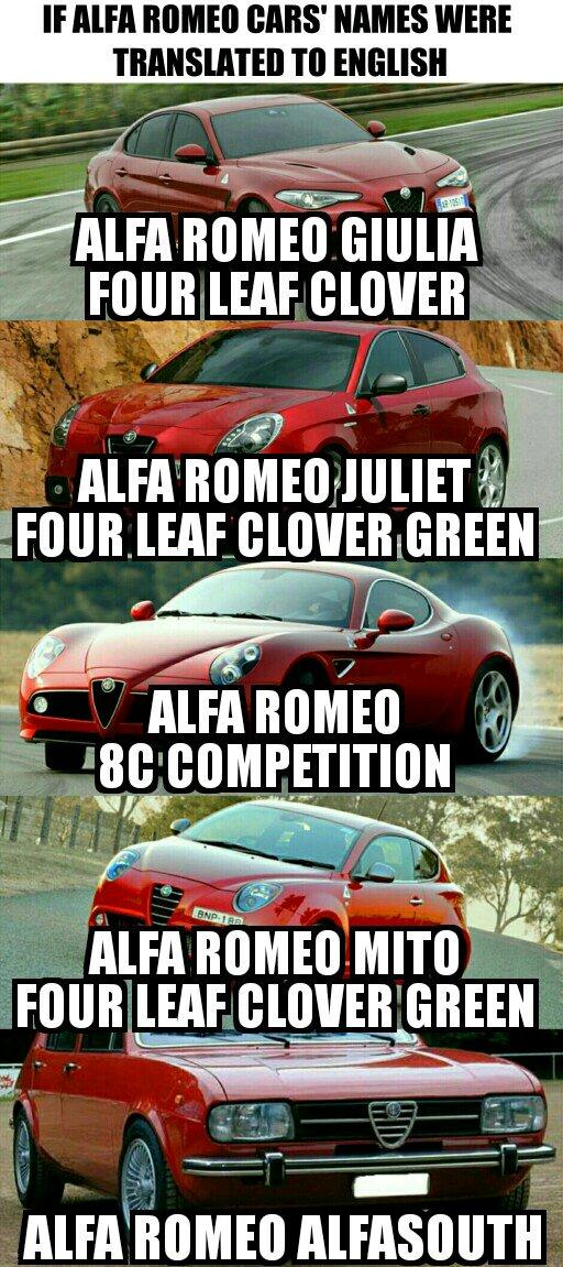 40365970b3f3193388eb61c81d04d772 quadrofoglio means four leaf clover, and giulietta means juliet