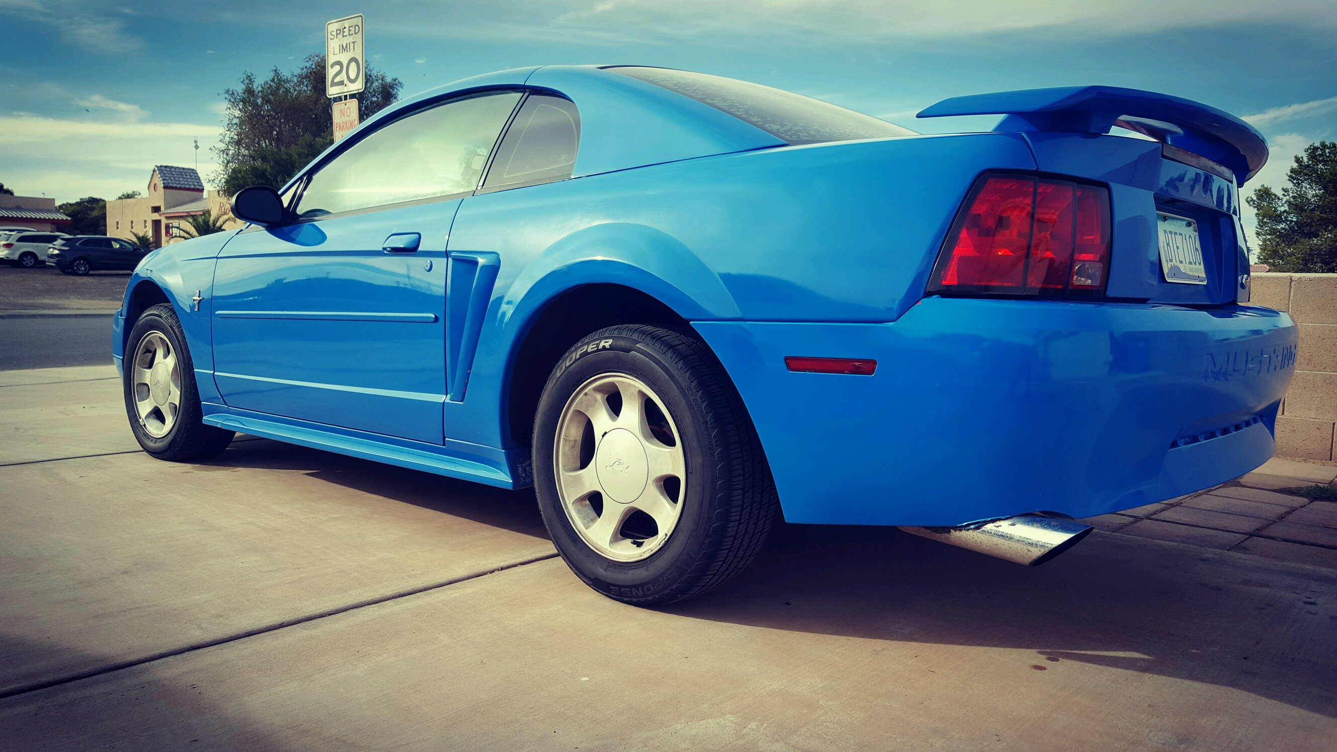 My New Edge Mustang With Grabber Blue Paint