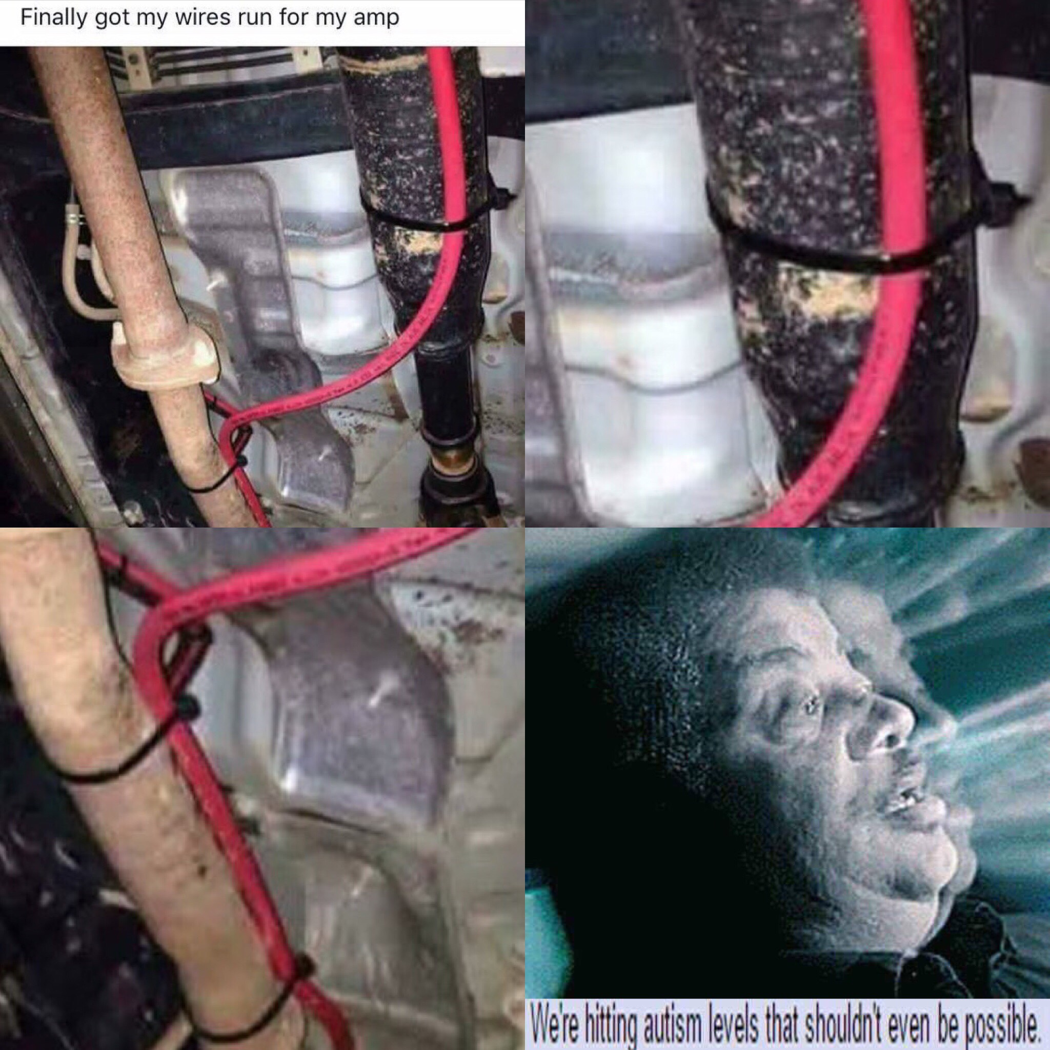 I M Not Sure What S Worse The Fact That The Exhaust Pipe Would Fry The Wires Or That The Wire Is Zip Tied To The Drive Shaft