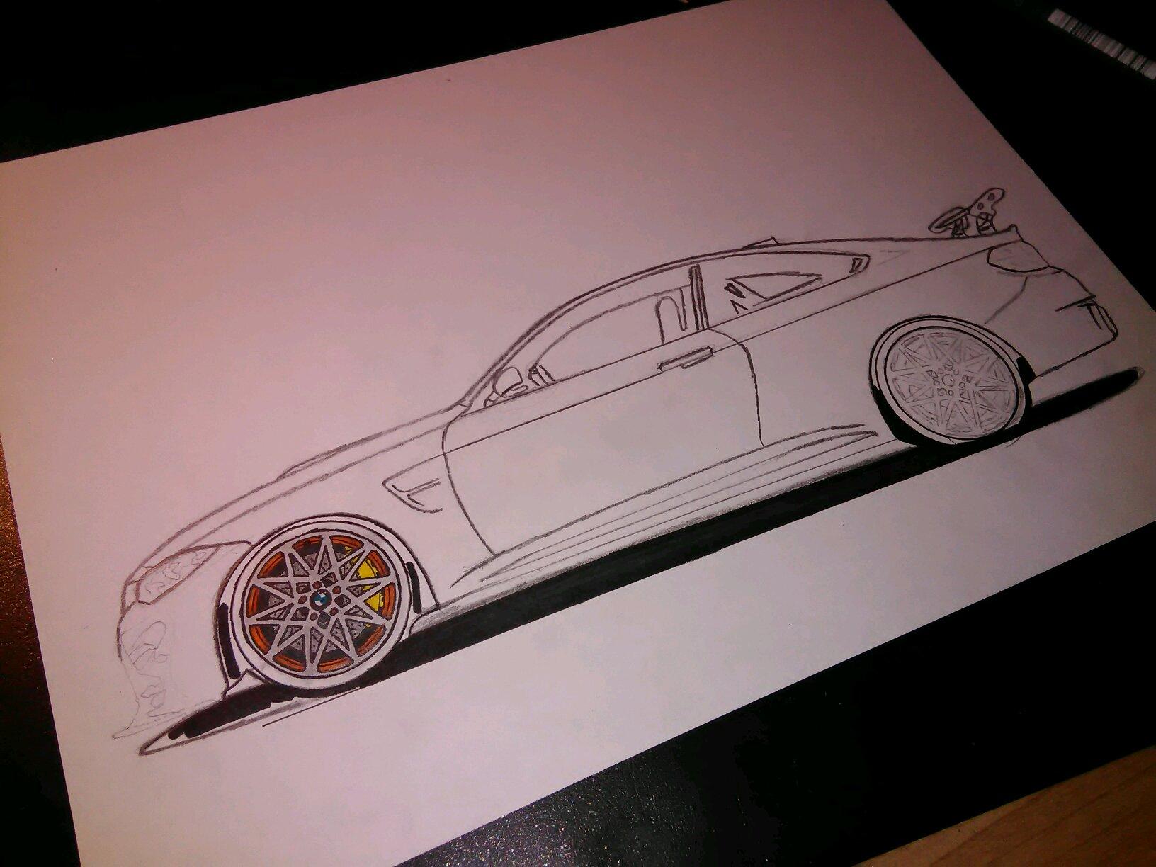 Bmw M4 Gts Drawing Progress