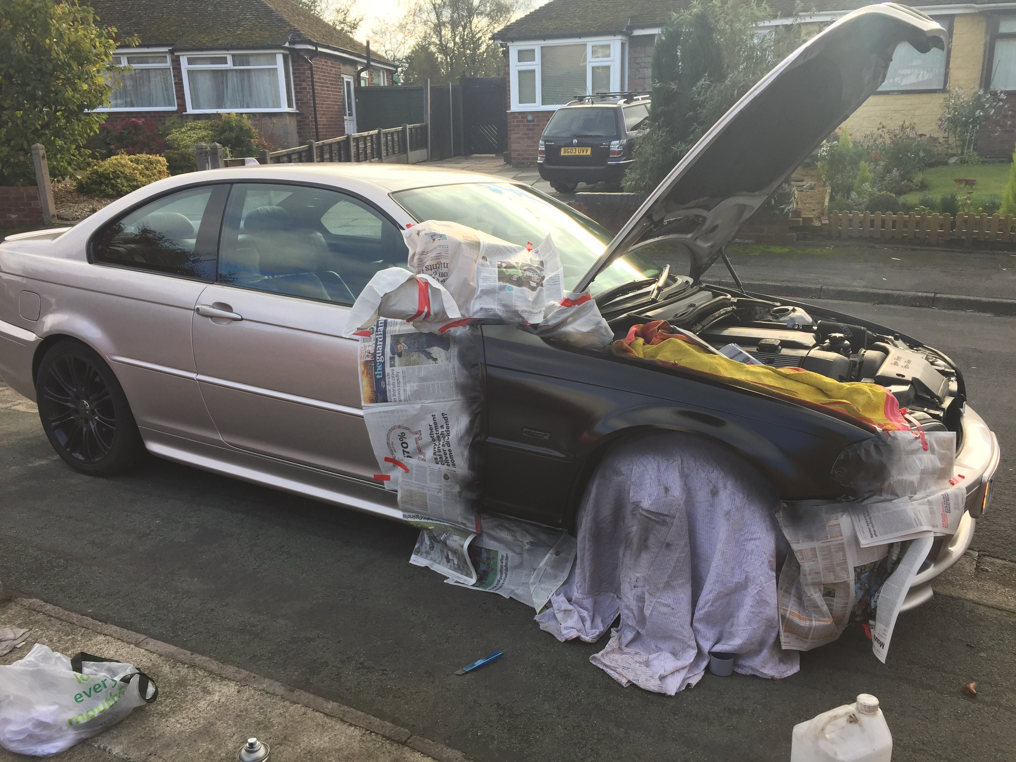 A Previous Owner Had The Car Fully Resprayed Rose Gold Paint Shop