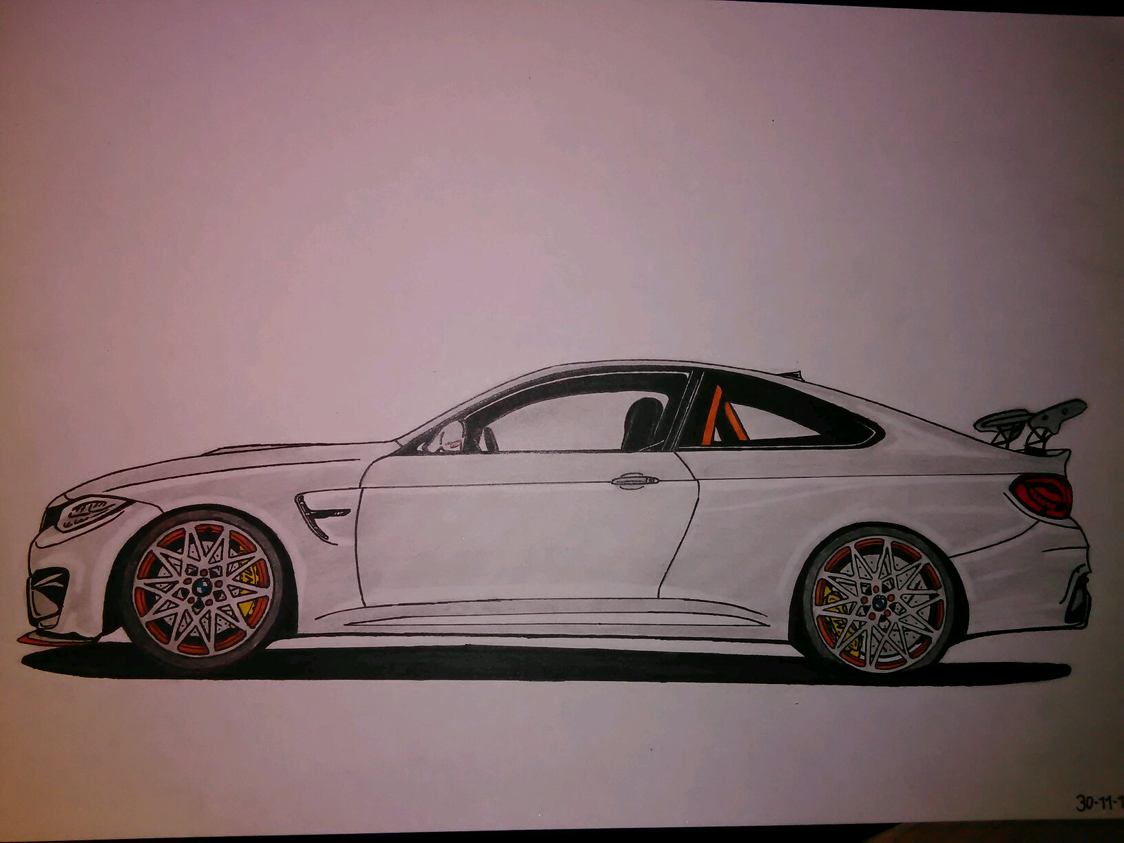 Bmw M4 Gts Drawing