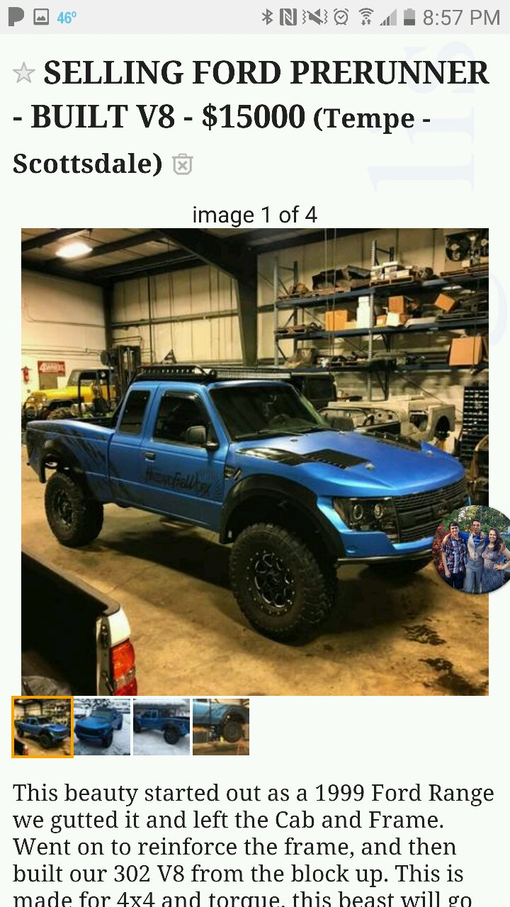 How About This For A Crazy Build 1999 Ford Ranger Raptor Prerunner