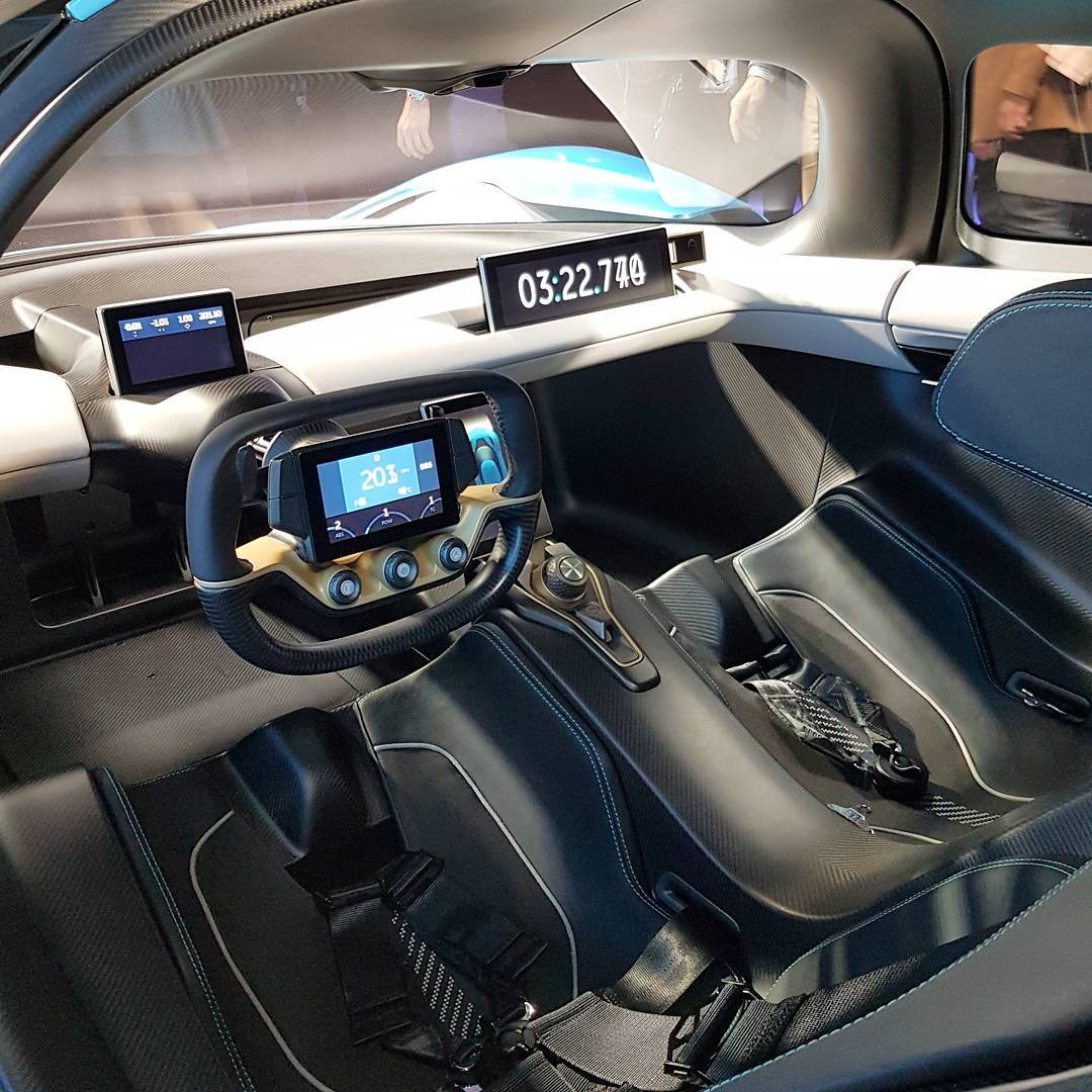 Ep9 Electric Supercar By Nextev: The Spaceage Interior Of The NIO EP9 From NextEV, That You