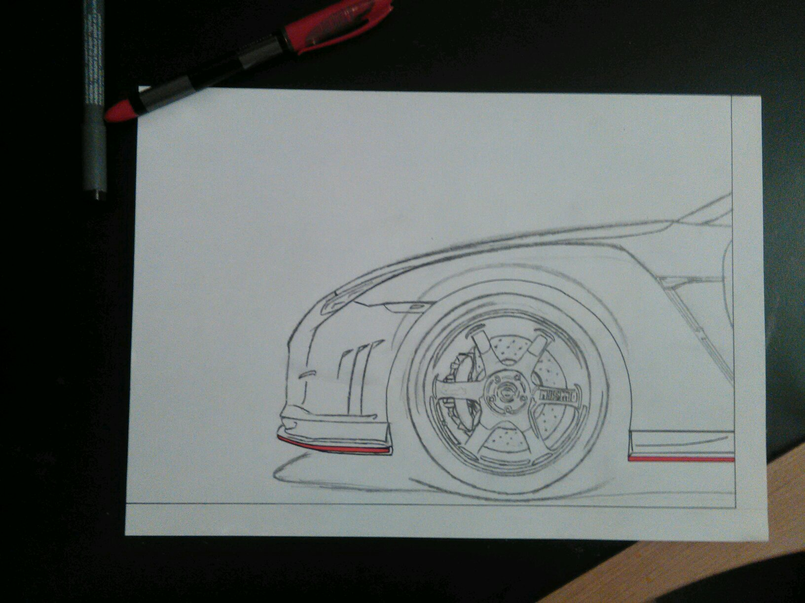 Nissan Gtr R35 Nismo Drawing Sketch Car Art