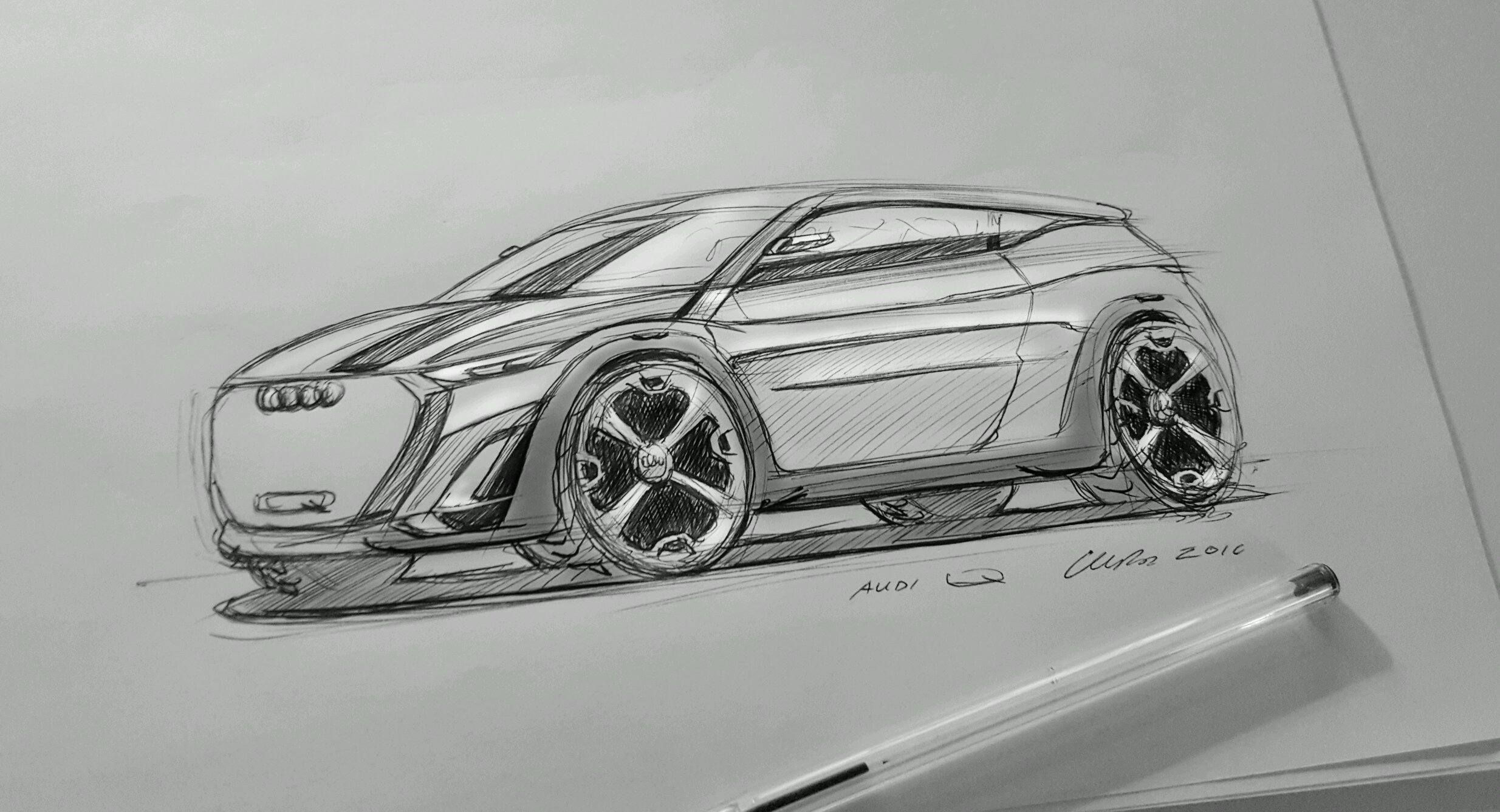 Audi Q Concept 2 Check Out My Car Sketching Tutorial If You Want