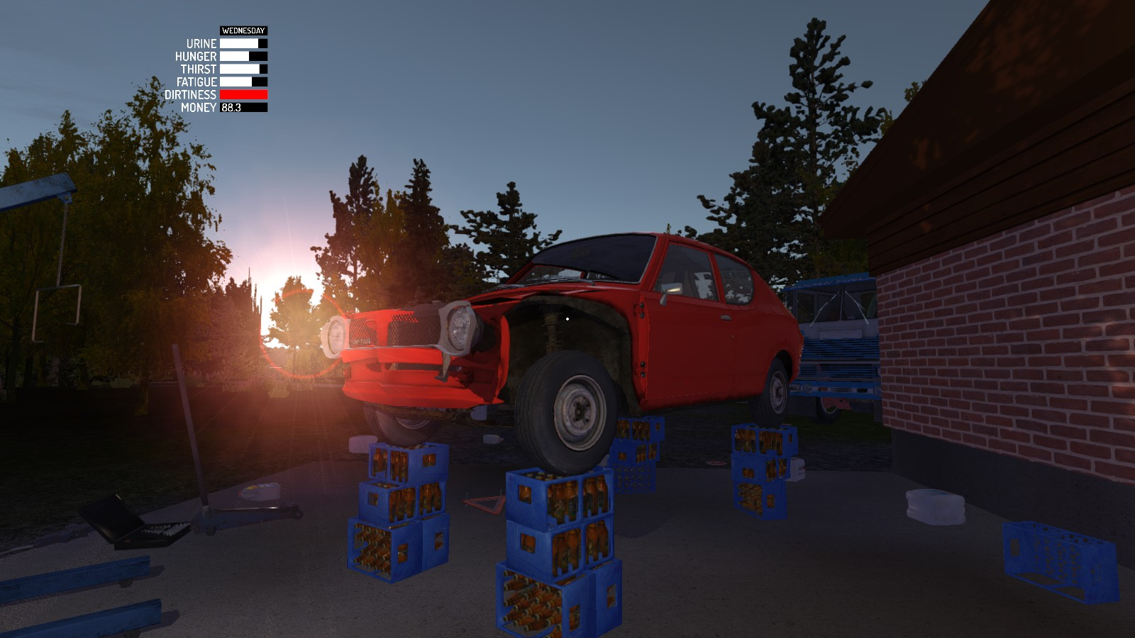 My 4 Post Lift In My Summer Car