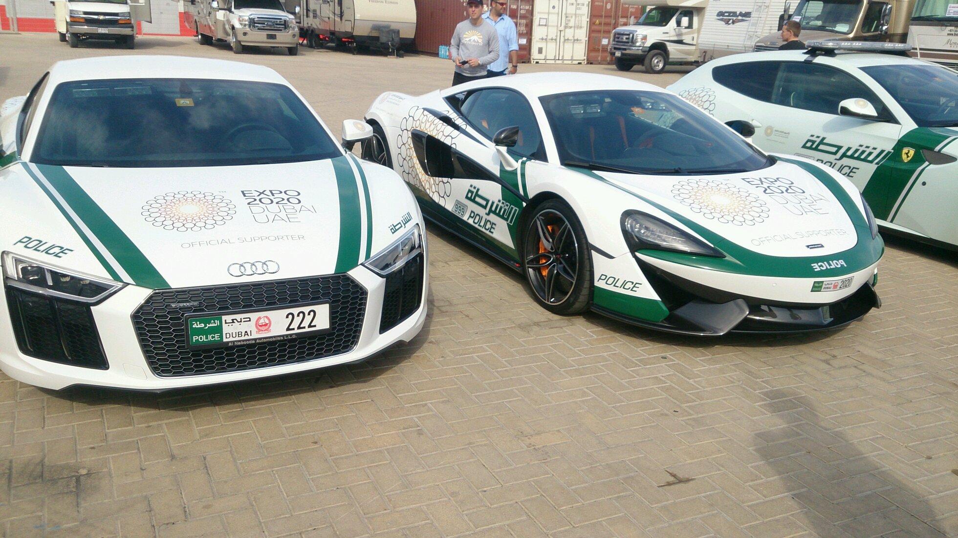 Audi R8 V10 Plus And Mclaren 570s Dubai Police Dubai Autodrome