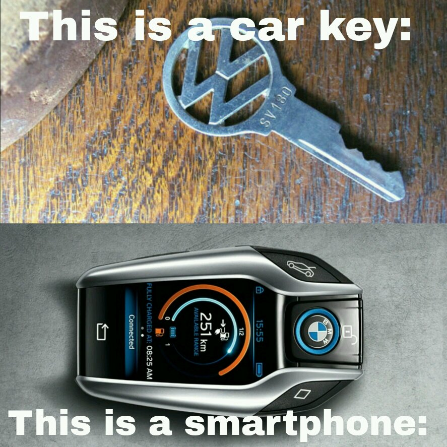 I wouldn't know how to start the car with the BMW key