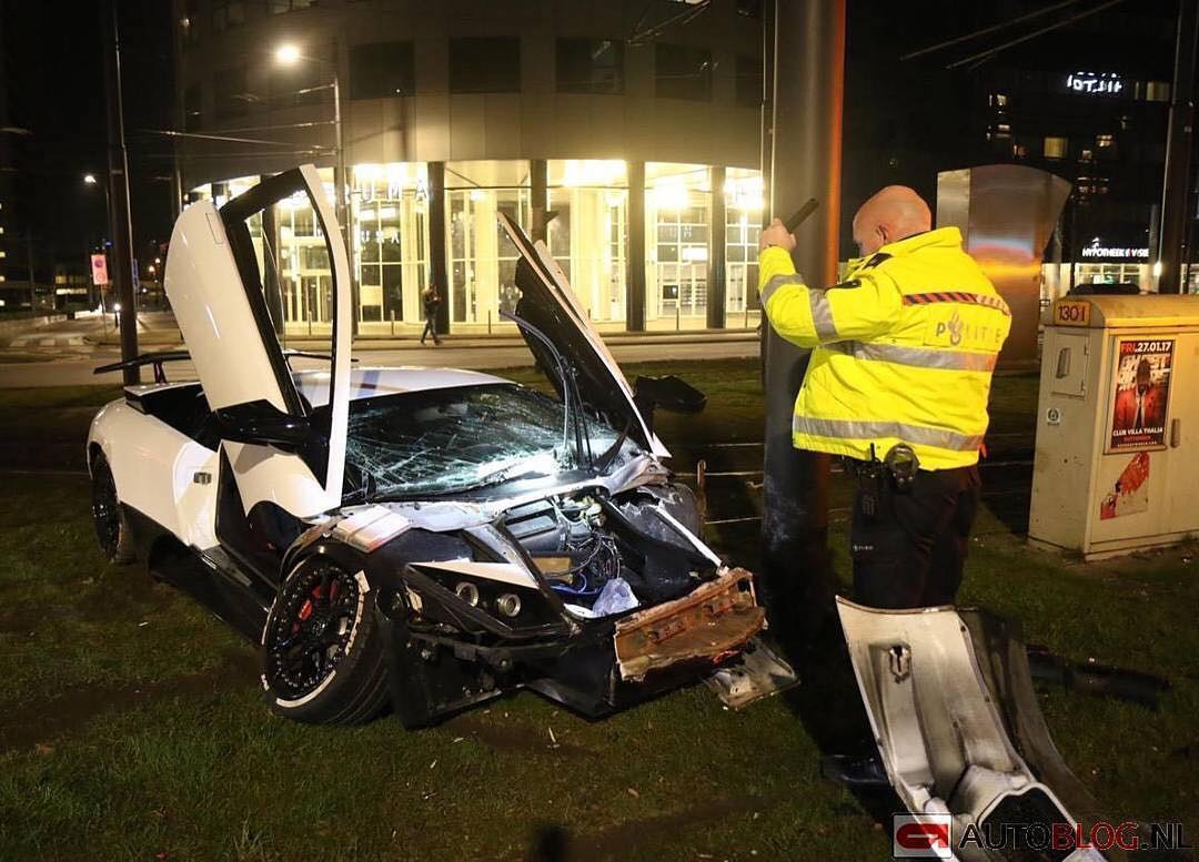 Ex Jonolsson Lamborghini Murcielago Dmc Crash In Rotterdam